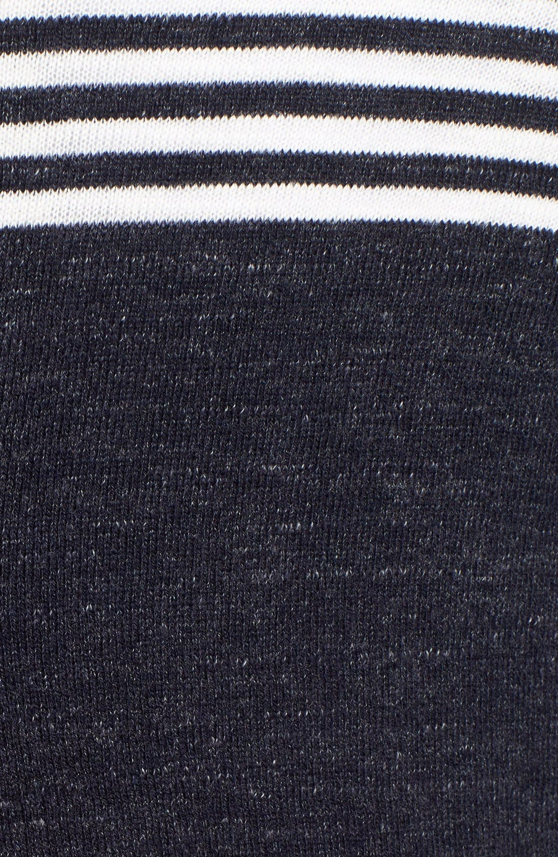 'Shore Club' Chest Stripe Crewneck Sweater,                             Alternate thumbnail 5, color,                             Navy