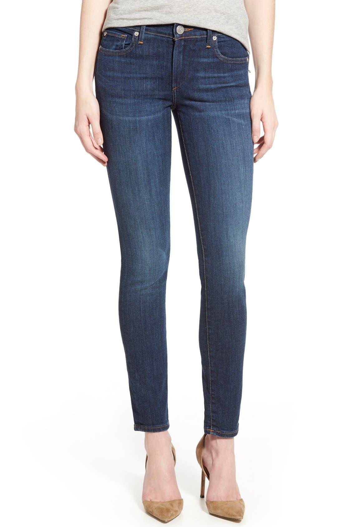 'Halle' Skinny Jeans,                         Main,                         color, Worn Vintage