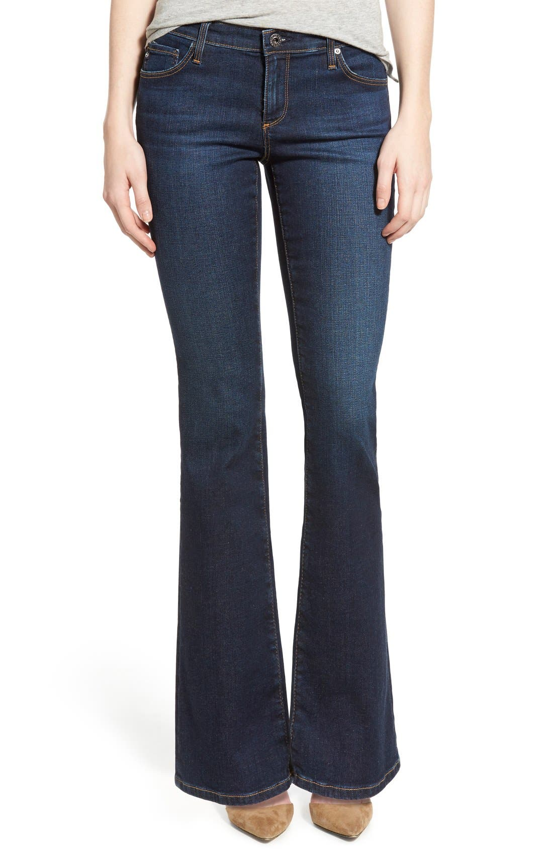 Alternate Image 1 Selected - AG 'Angelina' Bootcut Jeans (Smitten) (Petite)