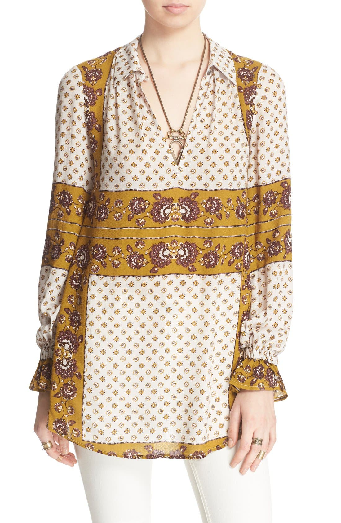 Main Image - Free People 'Changing Times' Floral Print Tunic