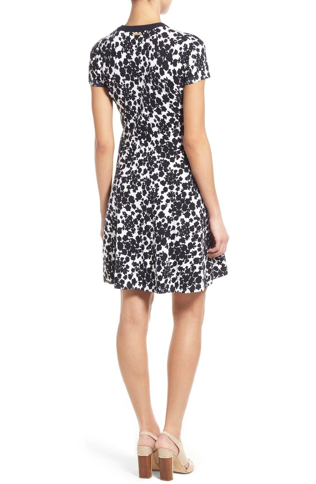 Alternate Image 2  - MICHAEL Michael Kors 'Gemma' Print Fit & Flare Sweater Dress