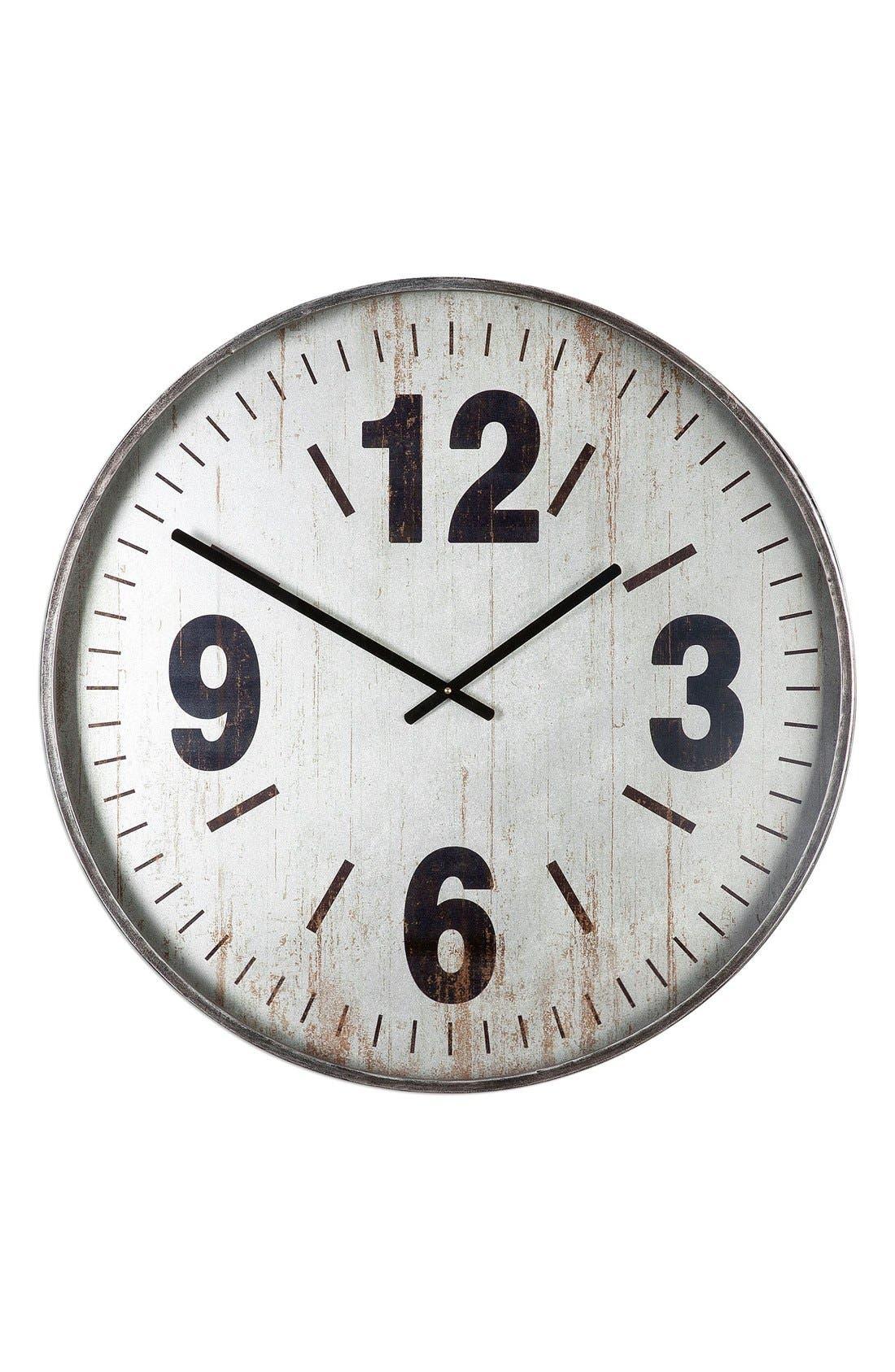 'Marino' Wall Clock,                         Main,                         color, Metallic Silver
