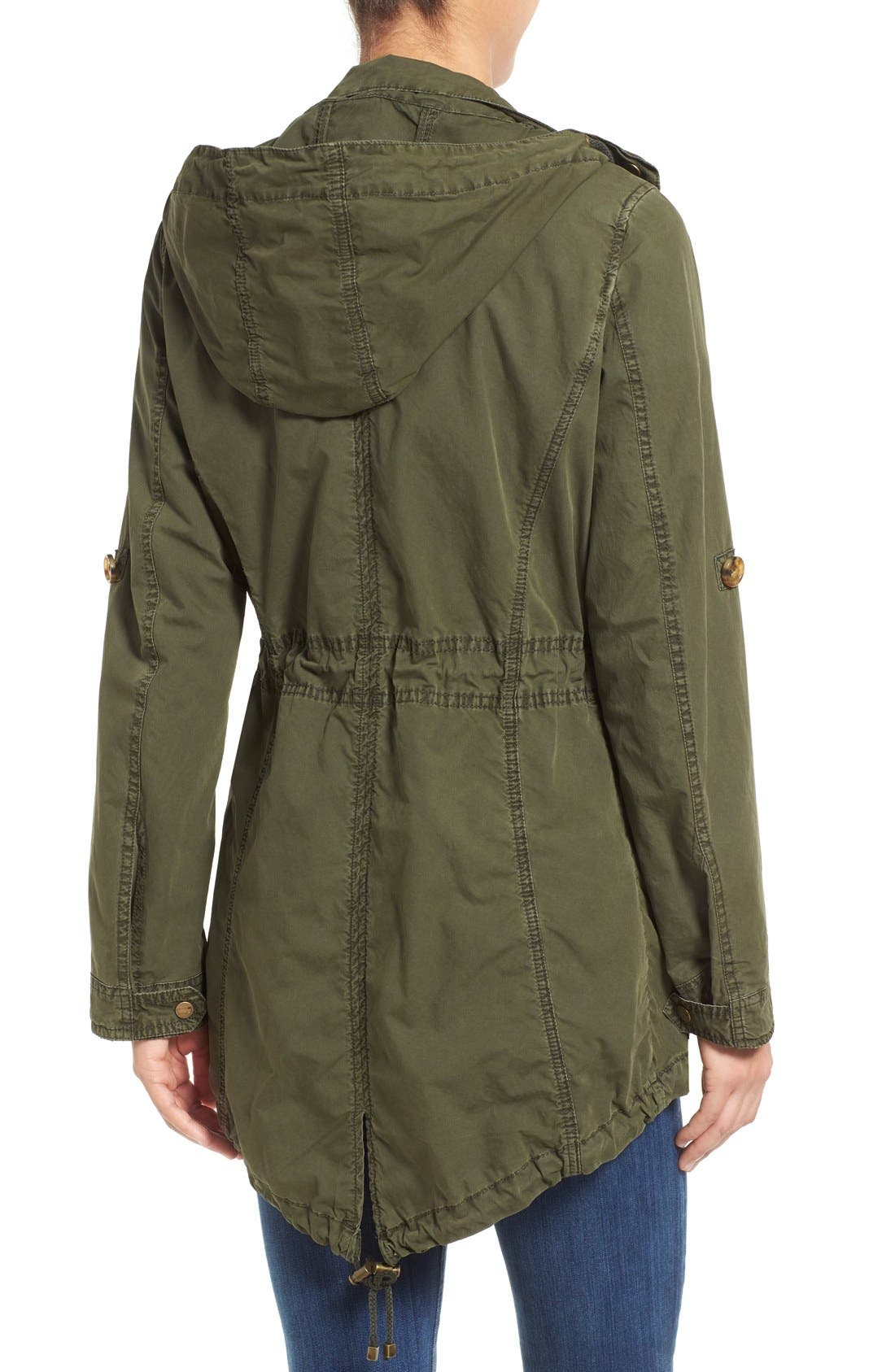 Parachute Hooded Cotton Utility Jacket,                             Alternate thumbnail 2, color,                             Army Green