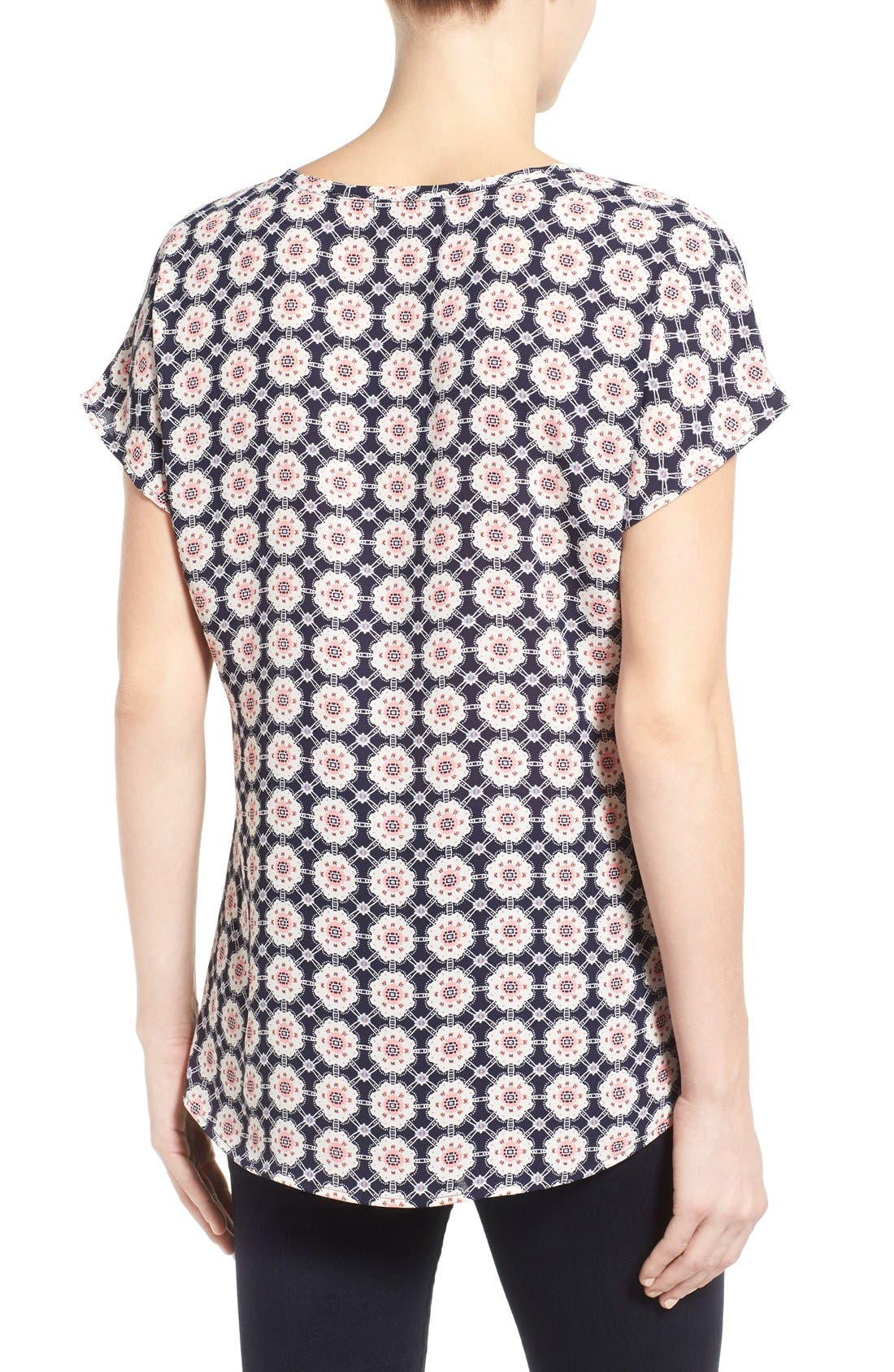 Alternate Image 2  - Pleione Scoop Neck Short Sleeve Blouse (Regular & Petite)
