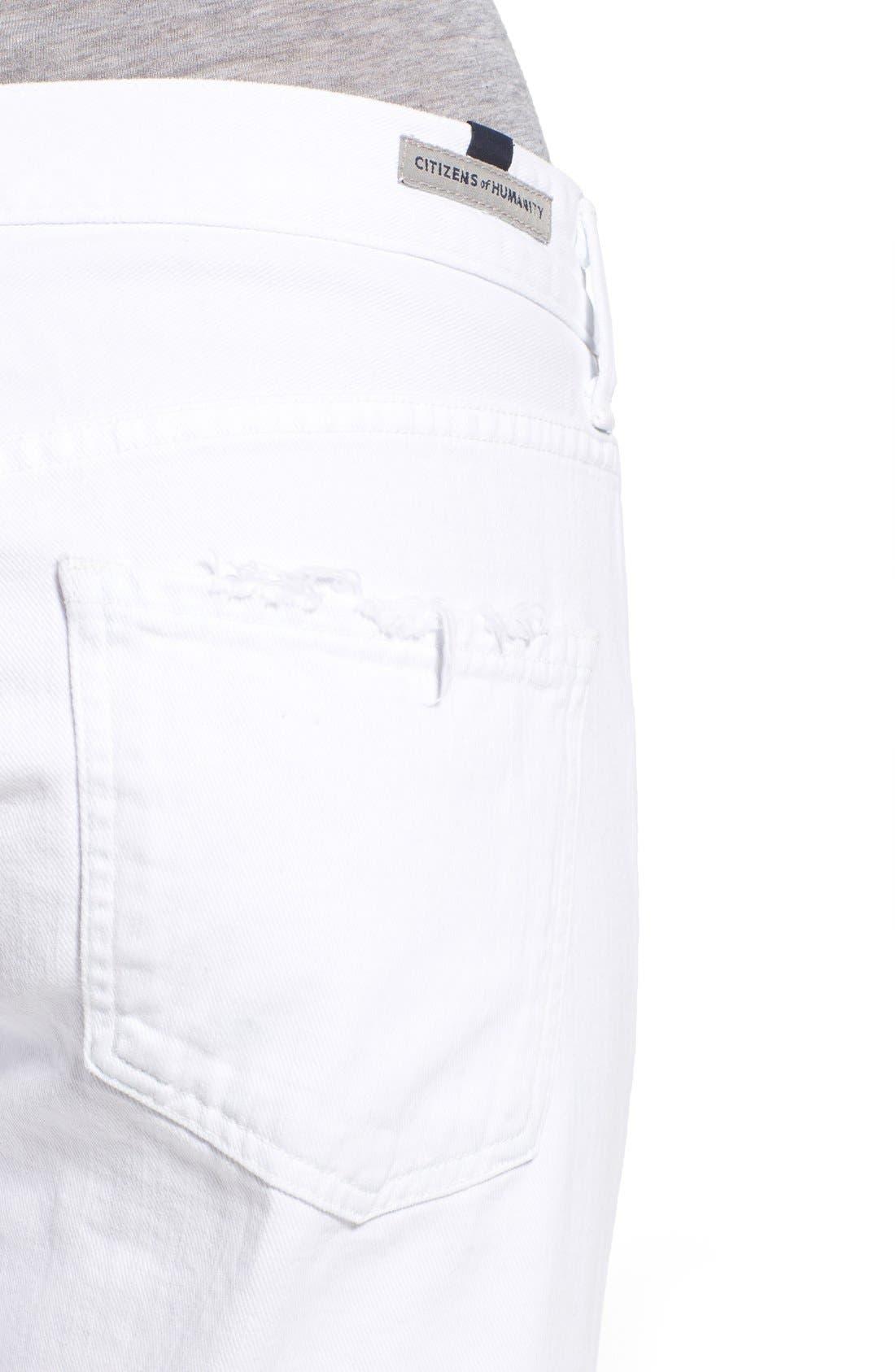 'Emerson' Slim Boyfriend Jeans,                             Alternate thumbnail 4, color,                             Glacier