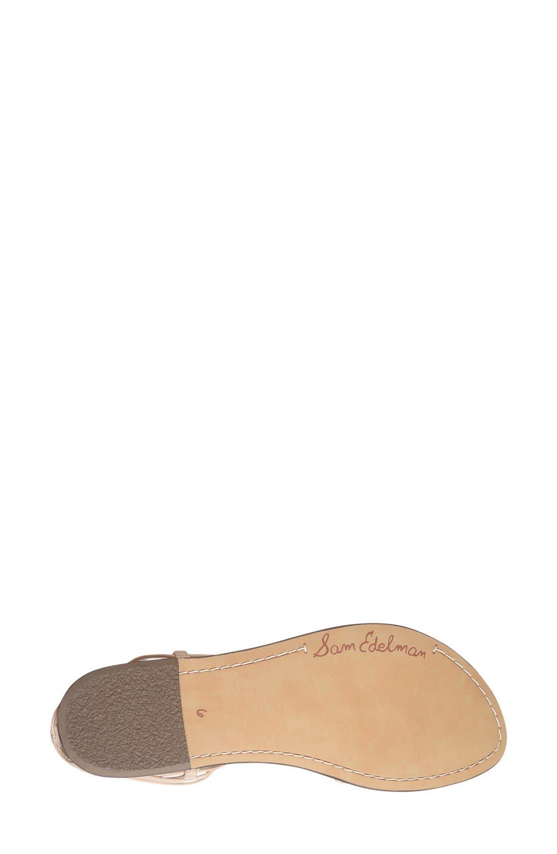 'Ginette' Sandal,                             Alternate thumbnail 4, color,                             Natural Naked Leather