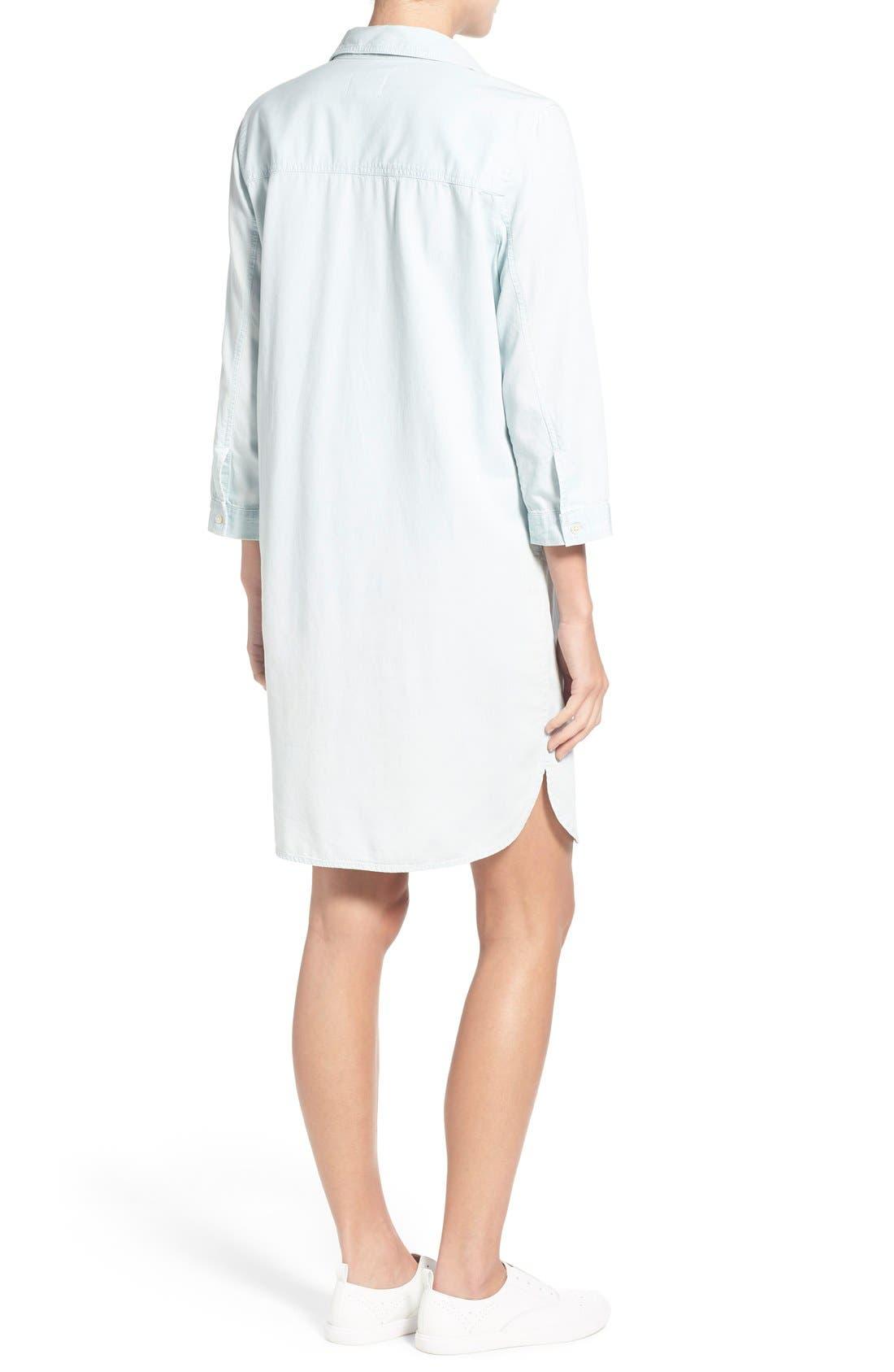 Alternate Image 2  - Caslon® Popover Shirtdress (Regular & Petite)