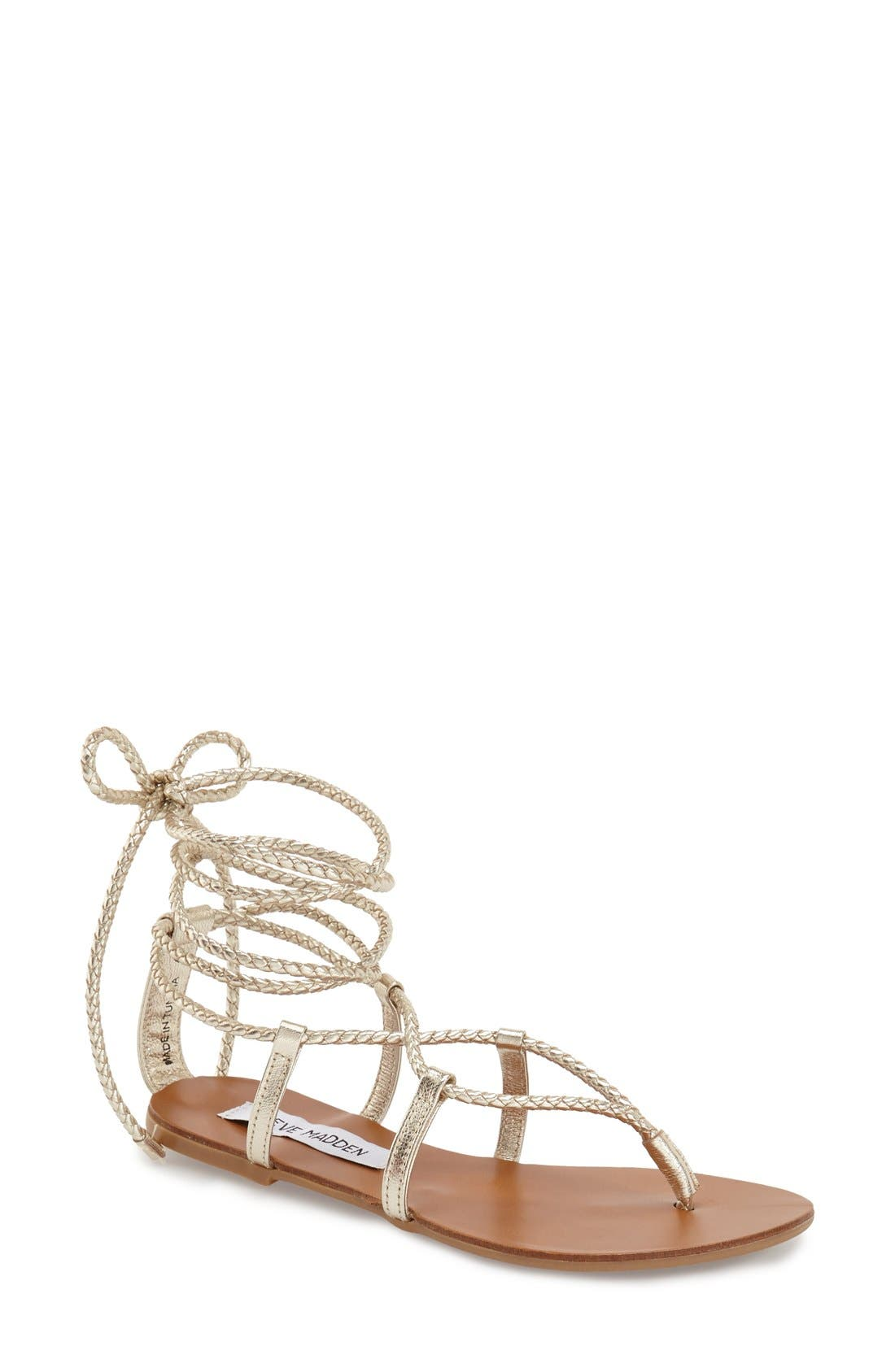 'Werkit' Gladiator Sandal,                             Main thumbnail 1, color,                             Gold Multi
