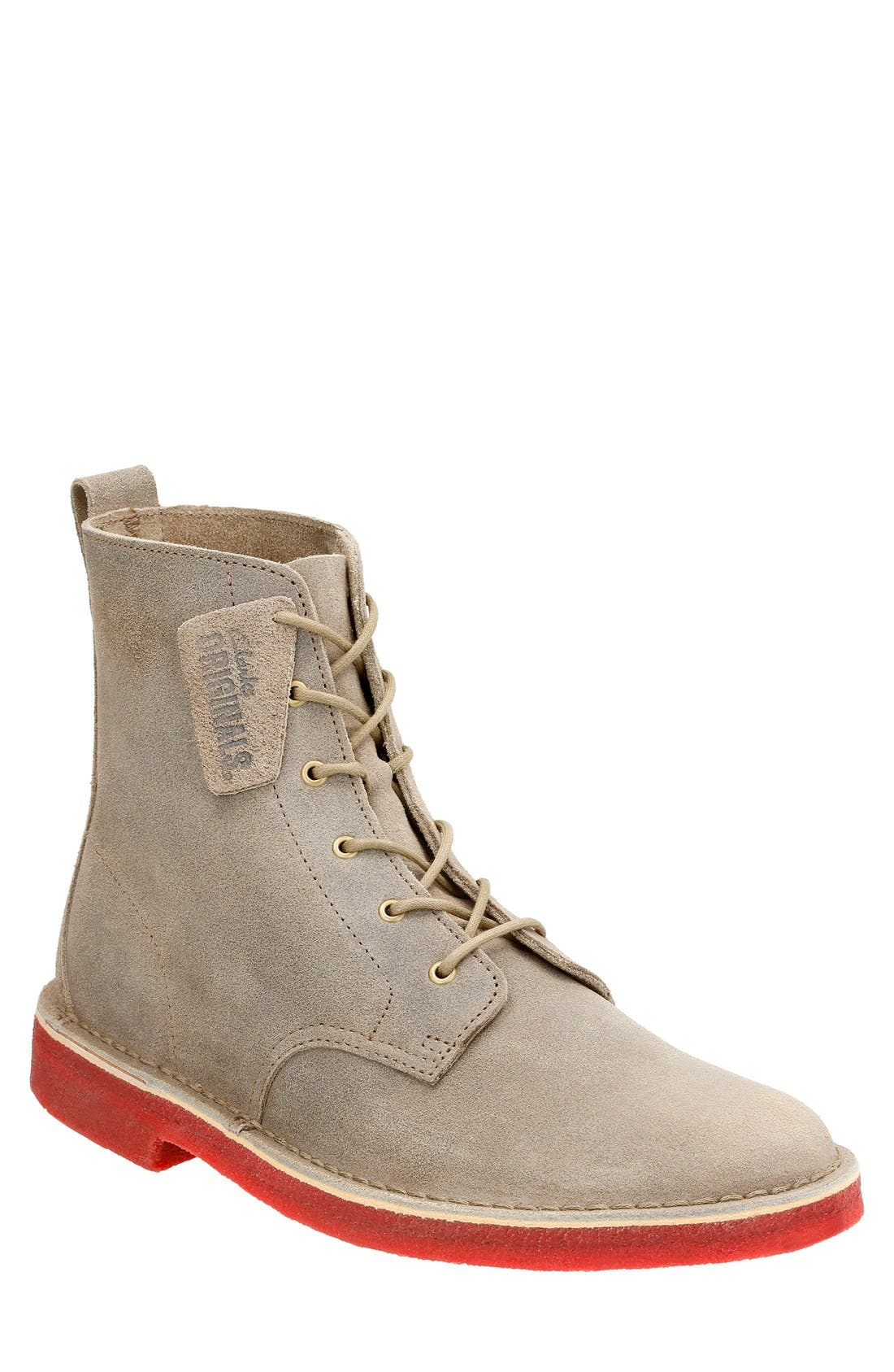 'Desert Mali' Boot,                             Main thumbnail 1, color,                             Taupe Distressed