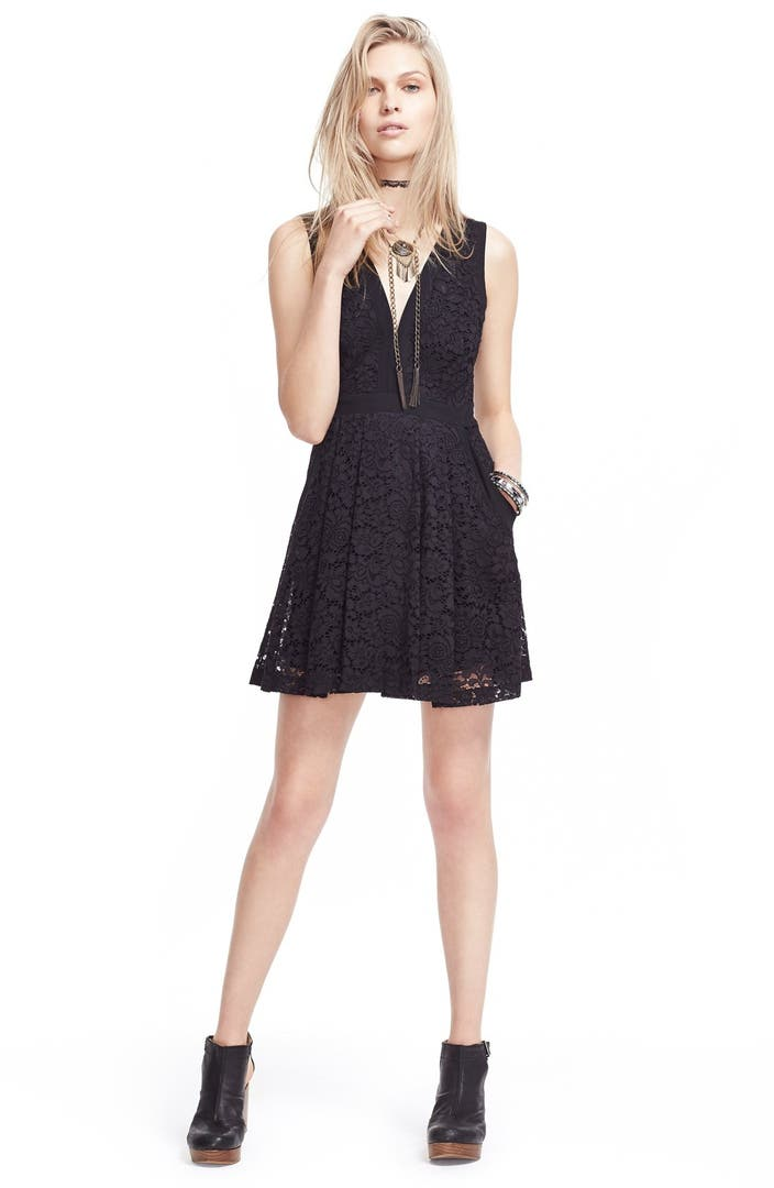 Free People Lace Lovely Fit Amp Flare Dress Nordstrom