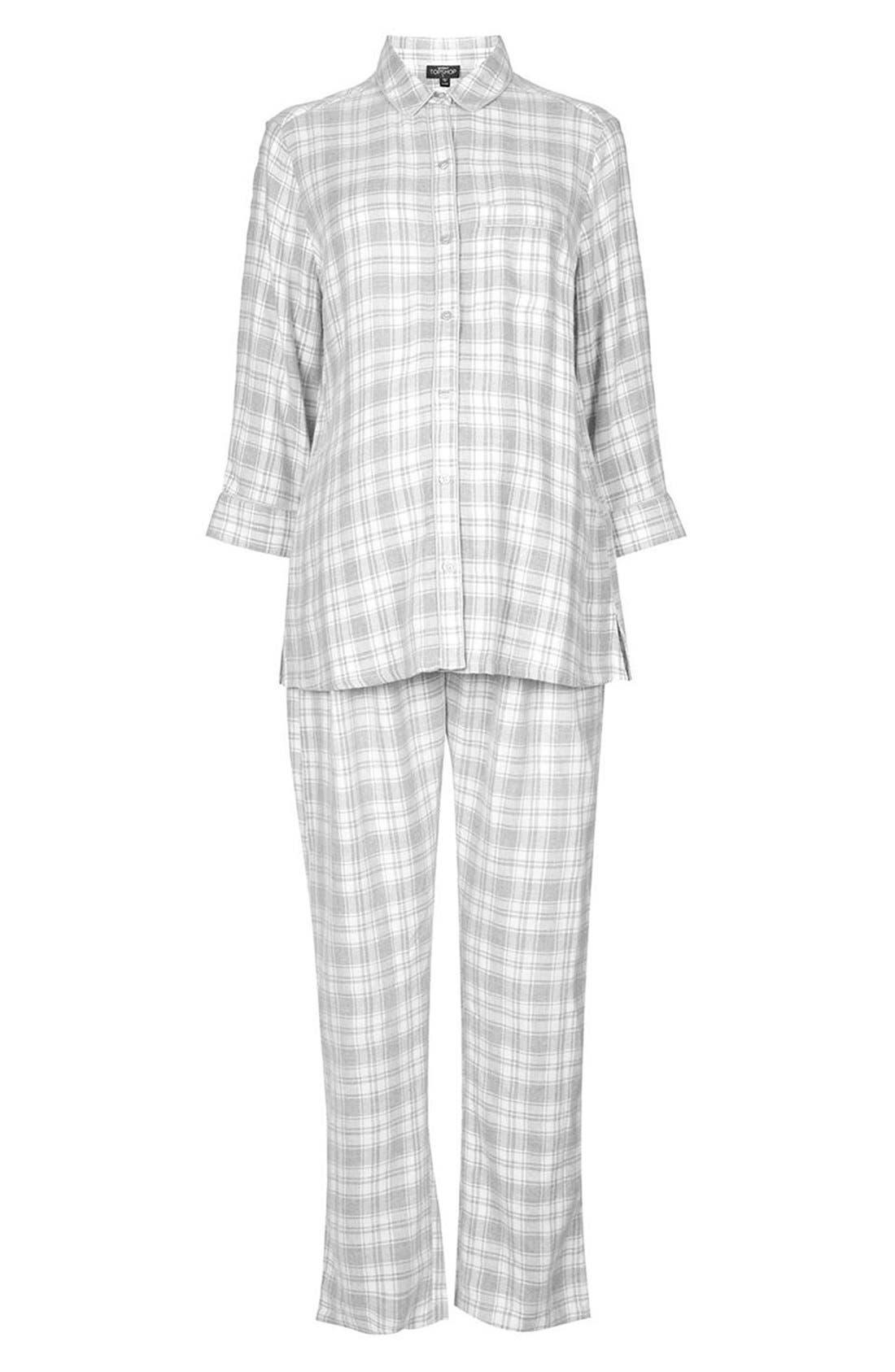 Alternate Image 3  - Topshop Plaid Maternity Pajamas