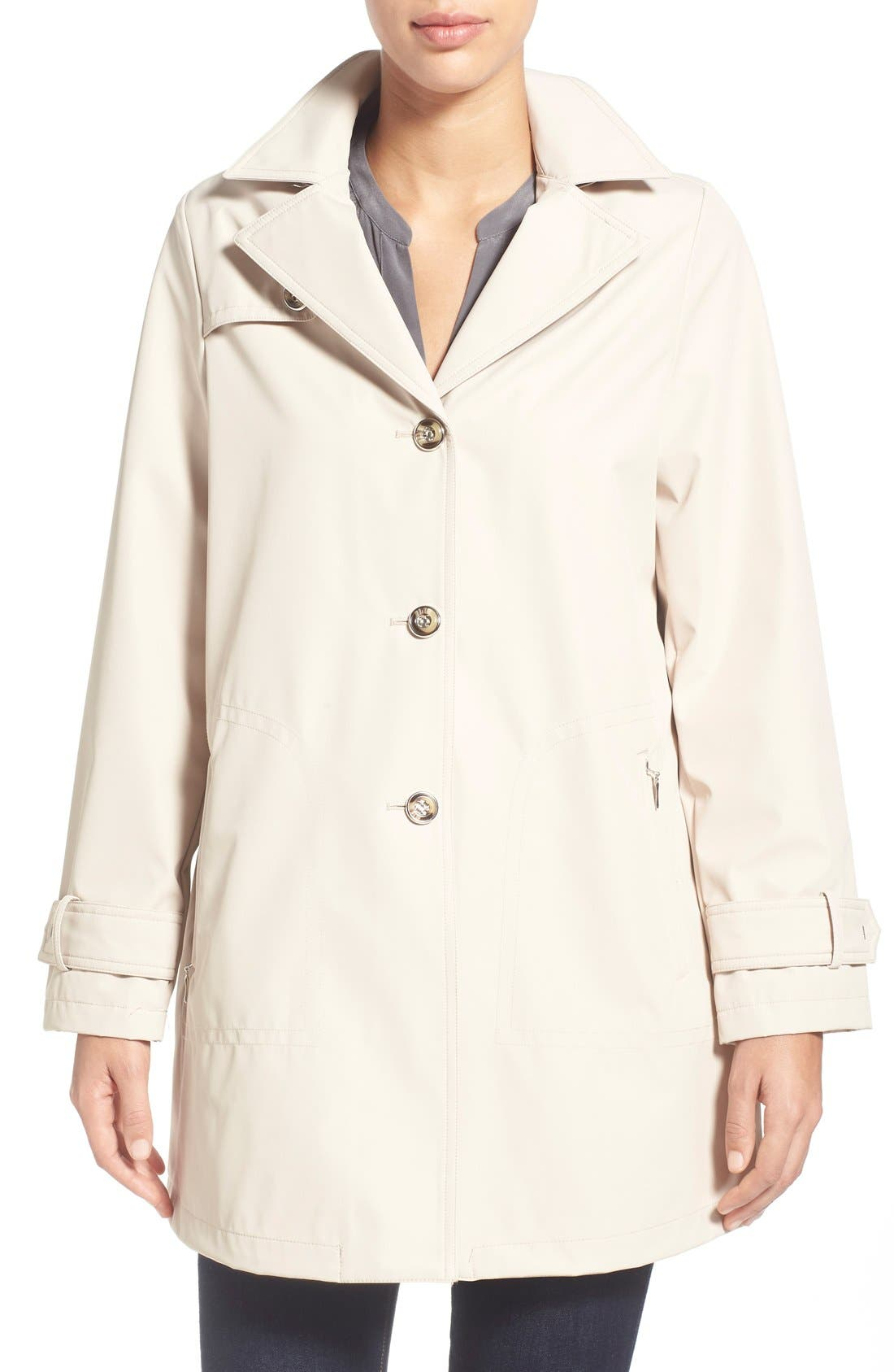 LARRY LEVINE A-Line Raincoat