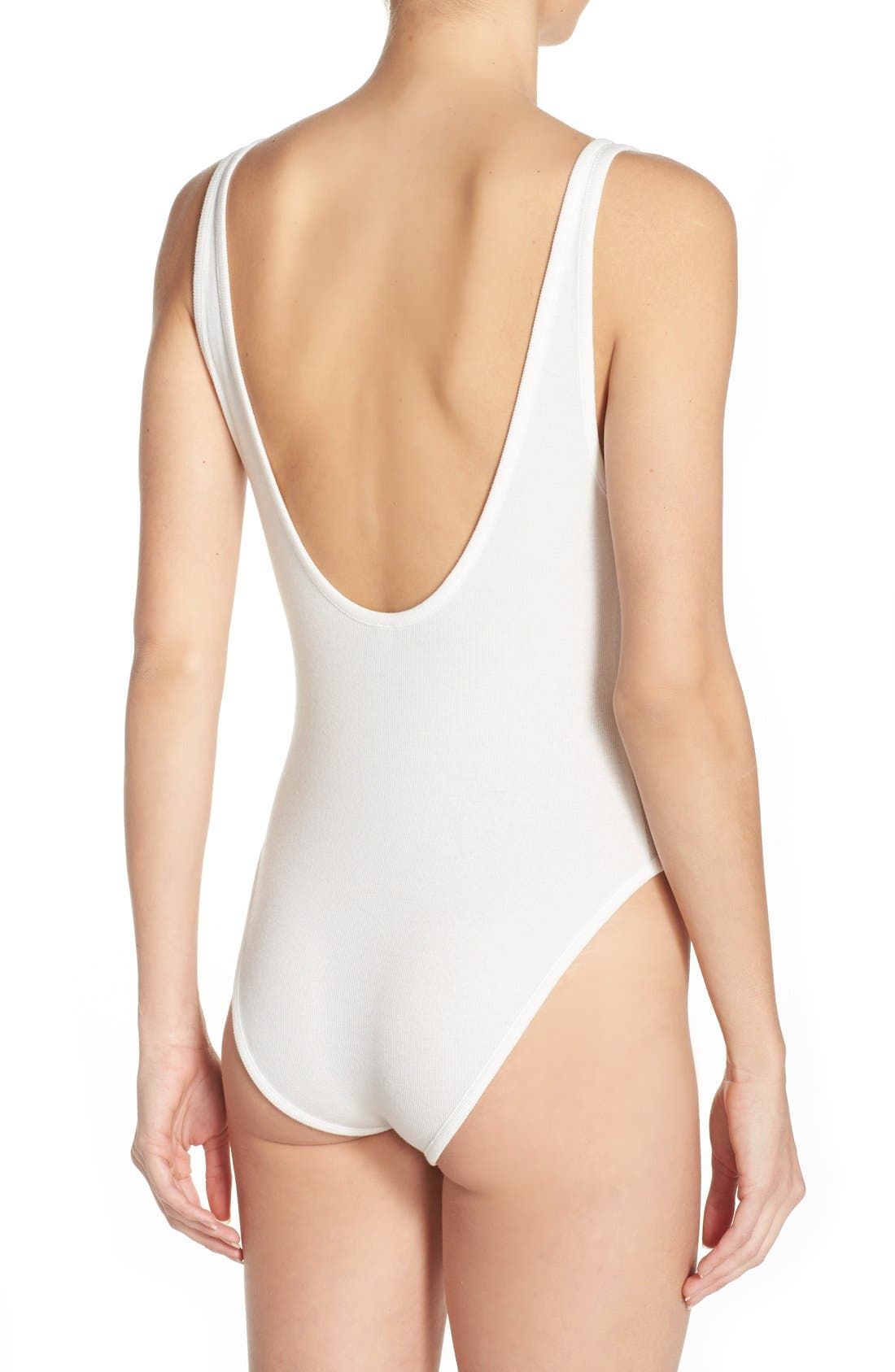 Alternate Image 2  - Free People Intimately FP Stretch Cotton Leotard Bodysuit