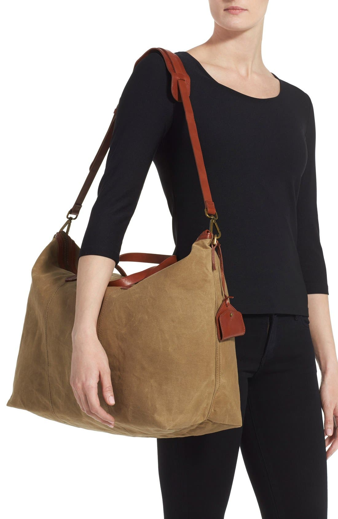 The Transport Canvas Weekend Bag,                             Alternate thumbnail 2, color,                             Truffle