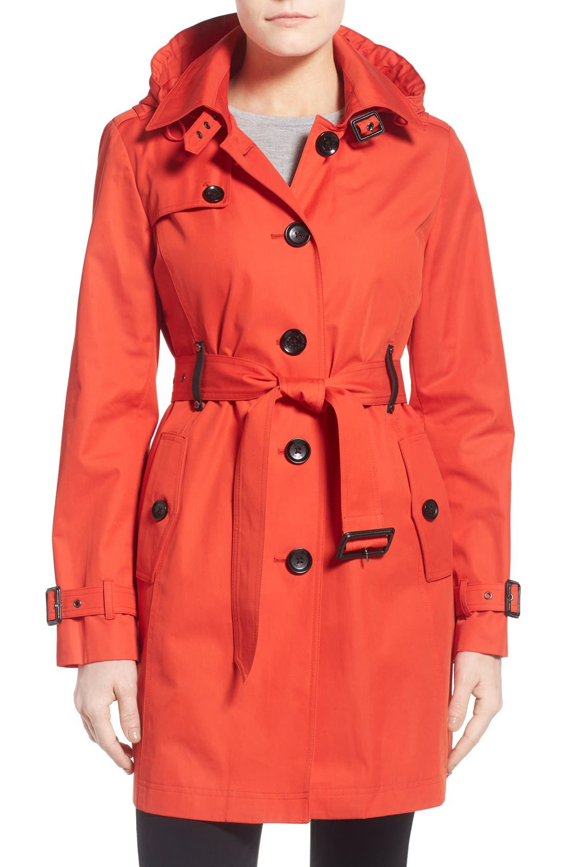 Main Image - MICHAEL Michael Kors Single Breasted Raincoat (Regular & Petite)