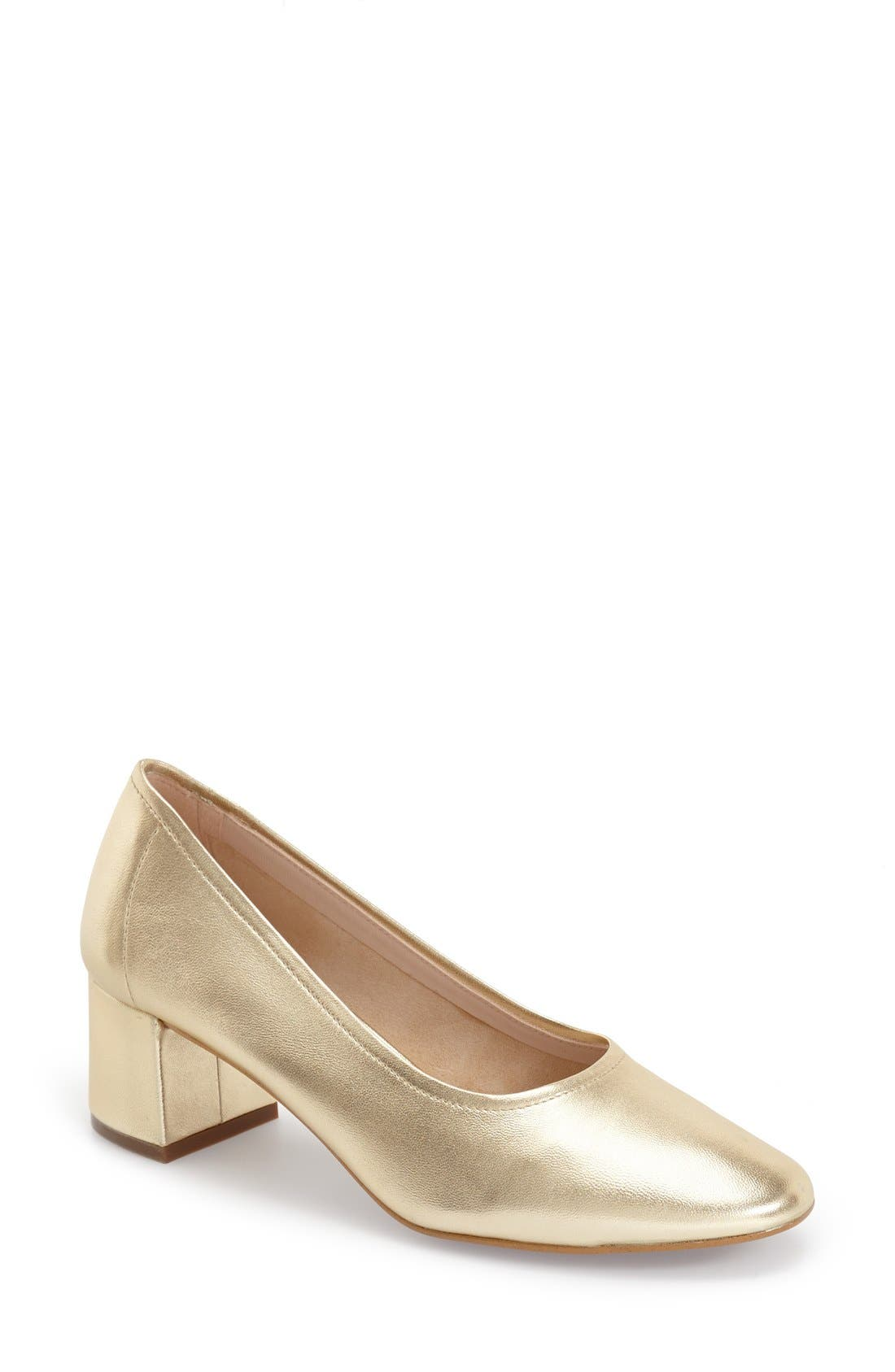 'Juno' Ballet Shoe,                         Main,                         color, Gold