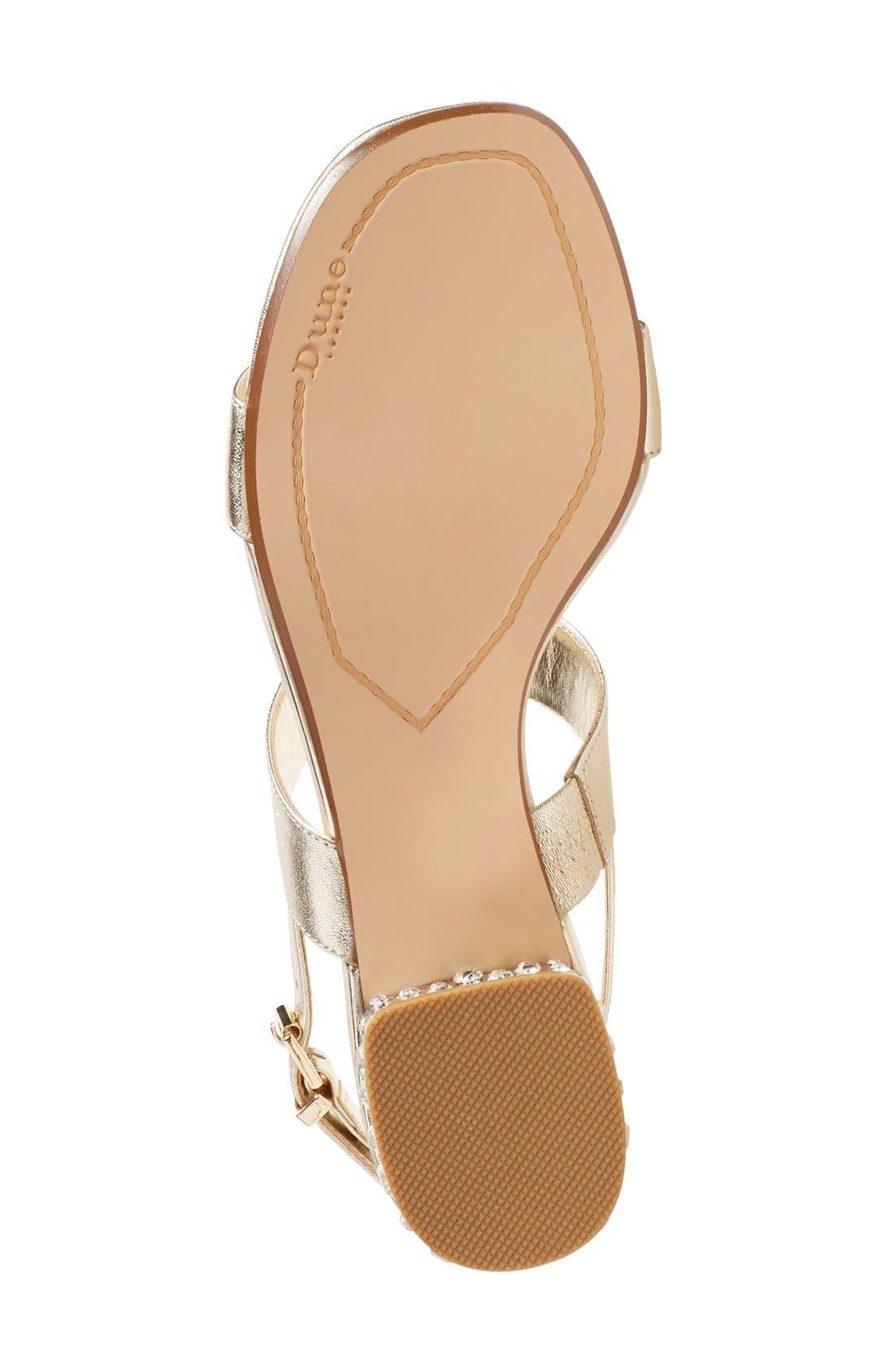 Alternate Image 4  - Dune London 'Ninah' Embellished Block Heel Sandal (Women)