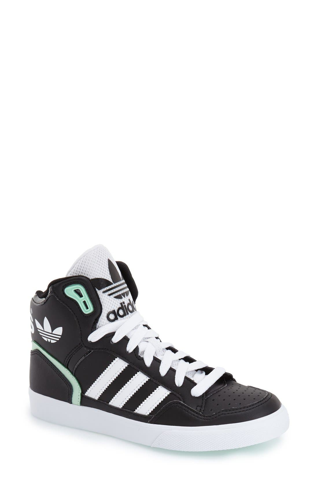 Alternate Image 1 Selected - adidas 'Extaball' High Top Sneaker (Women)