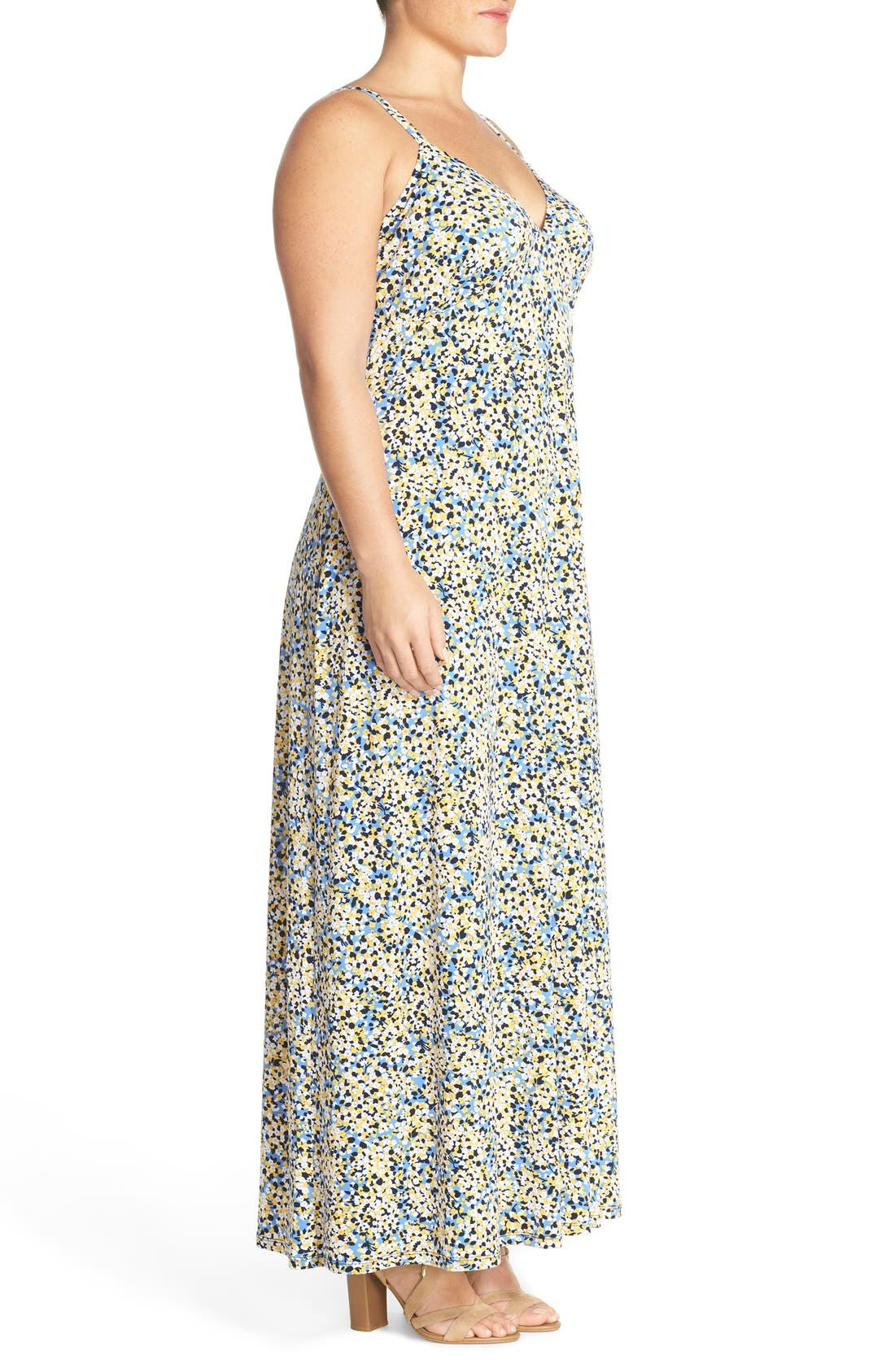 Alternate Image 3  - MICHAEL Michael Kors 'Chiltington' Jersey A-Line Maxi Dress (Plus Size)