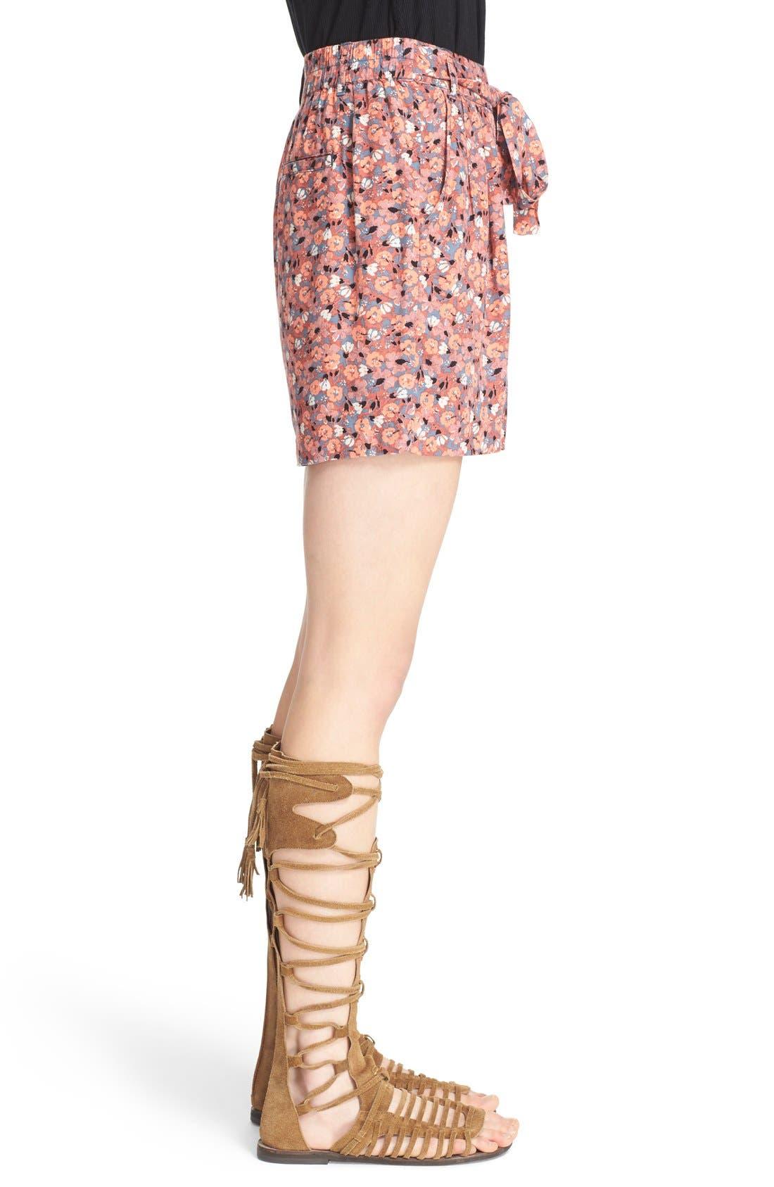 Alternate Image 3  - Free People 'Layla' Floral Print Shorts