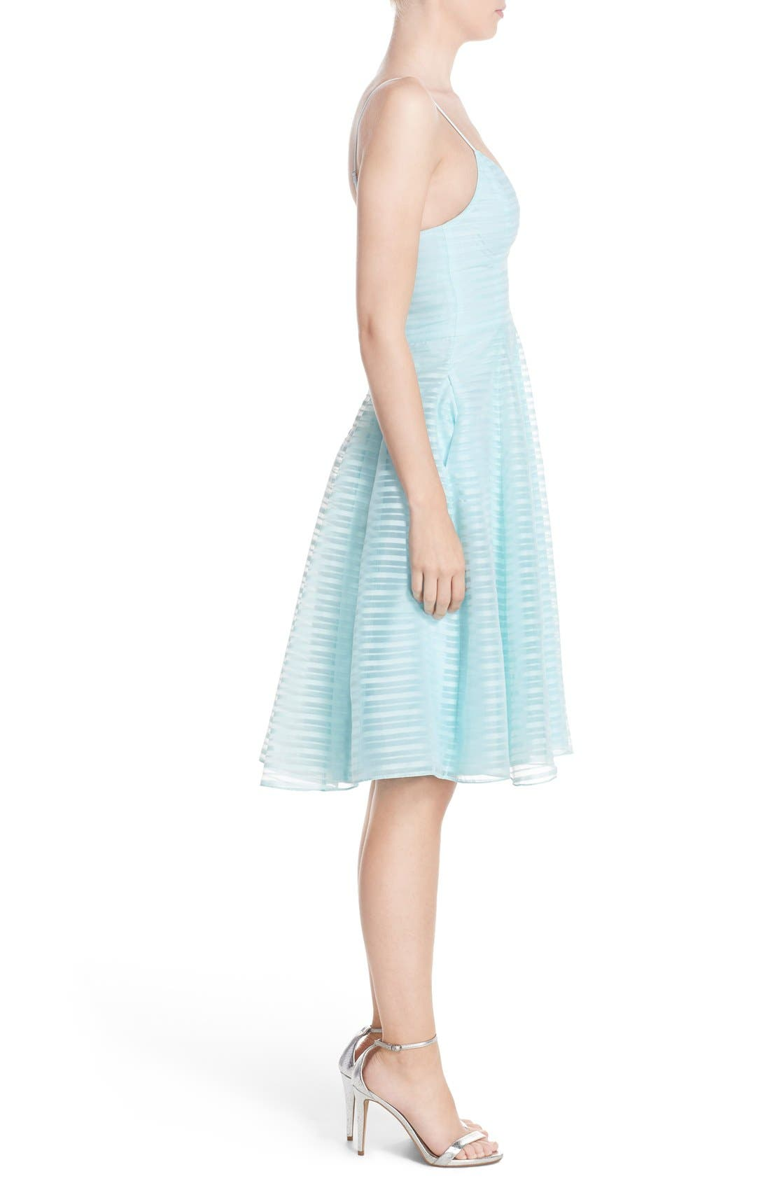 Alternate Image 3  - Halson Heritage Shadow Stripe Organza Dress