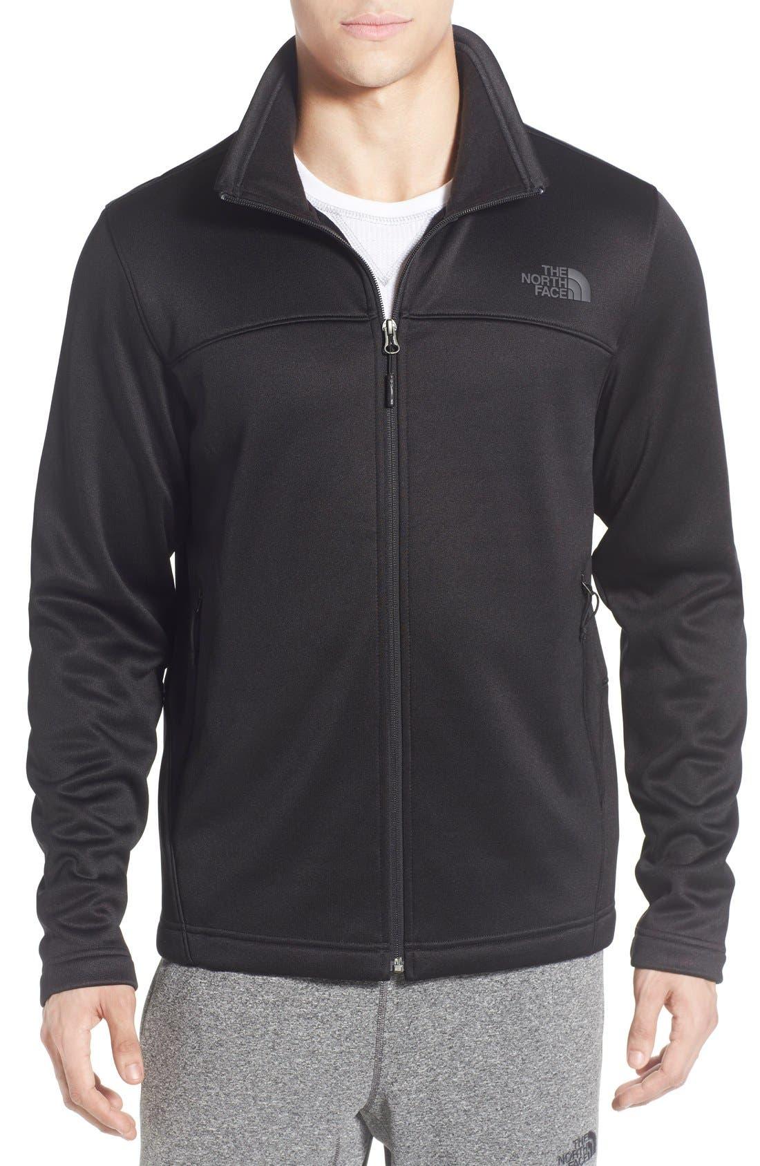 'Momentum' Fleece Jacket,                         Main,                         color, Tnf Black