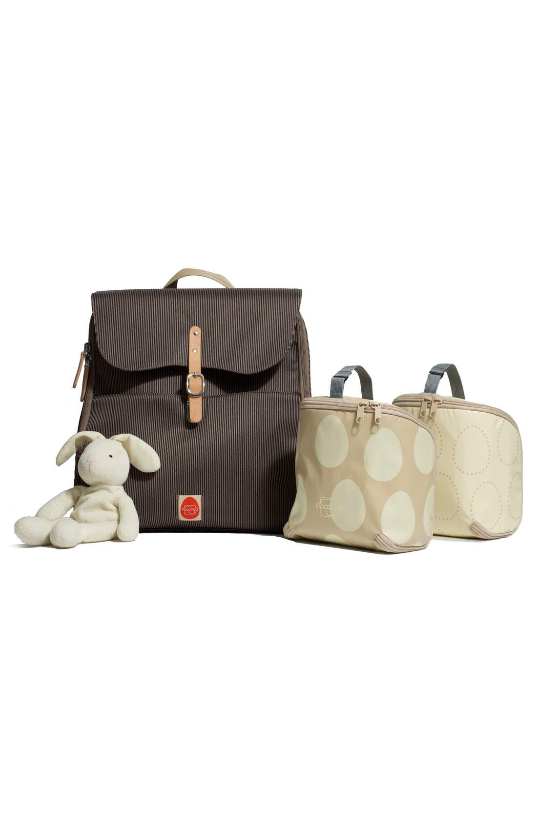 'Hastings' Diaper Bag,                             Alternate thumbnail 3, color,                             Mocha