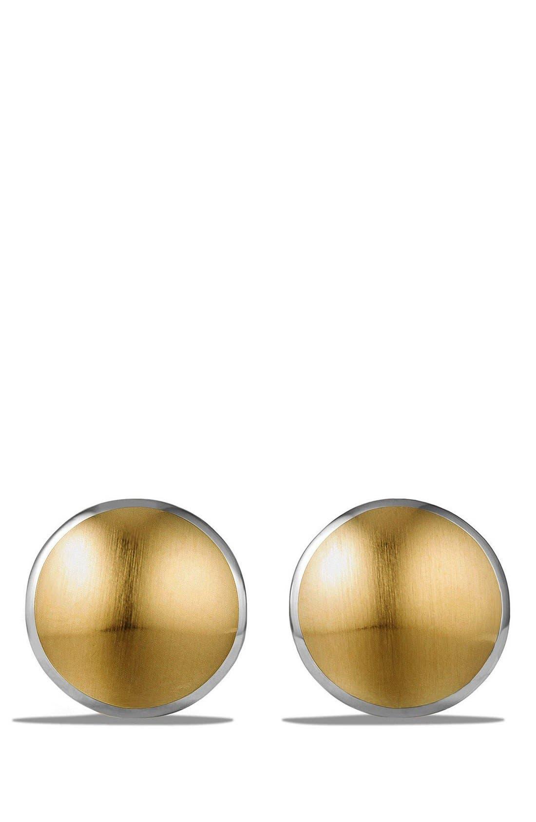 'Streamline' Cufflinks,                             Alternate thumbnail 2, color,                             Silver/ Gold