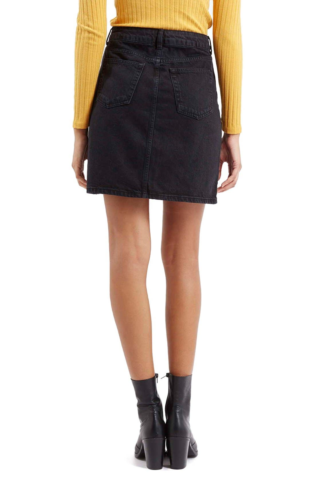 Alternate Image 3  - Topshop Denim A-Line Skirt