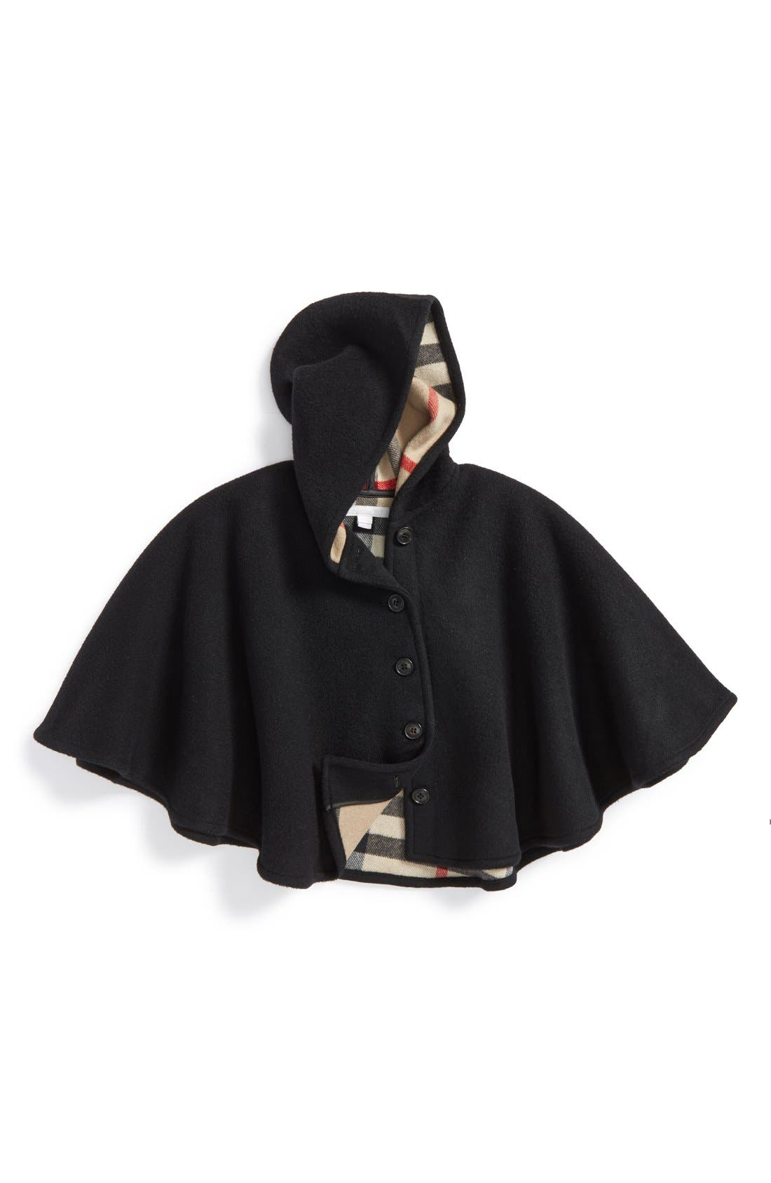 Burberry Rosa Hooded Wool Cape (Little Girls & Big Girls)
