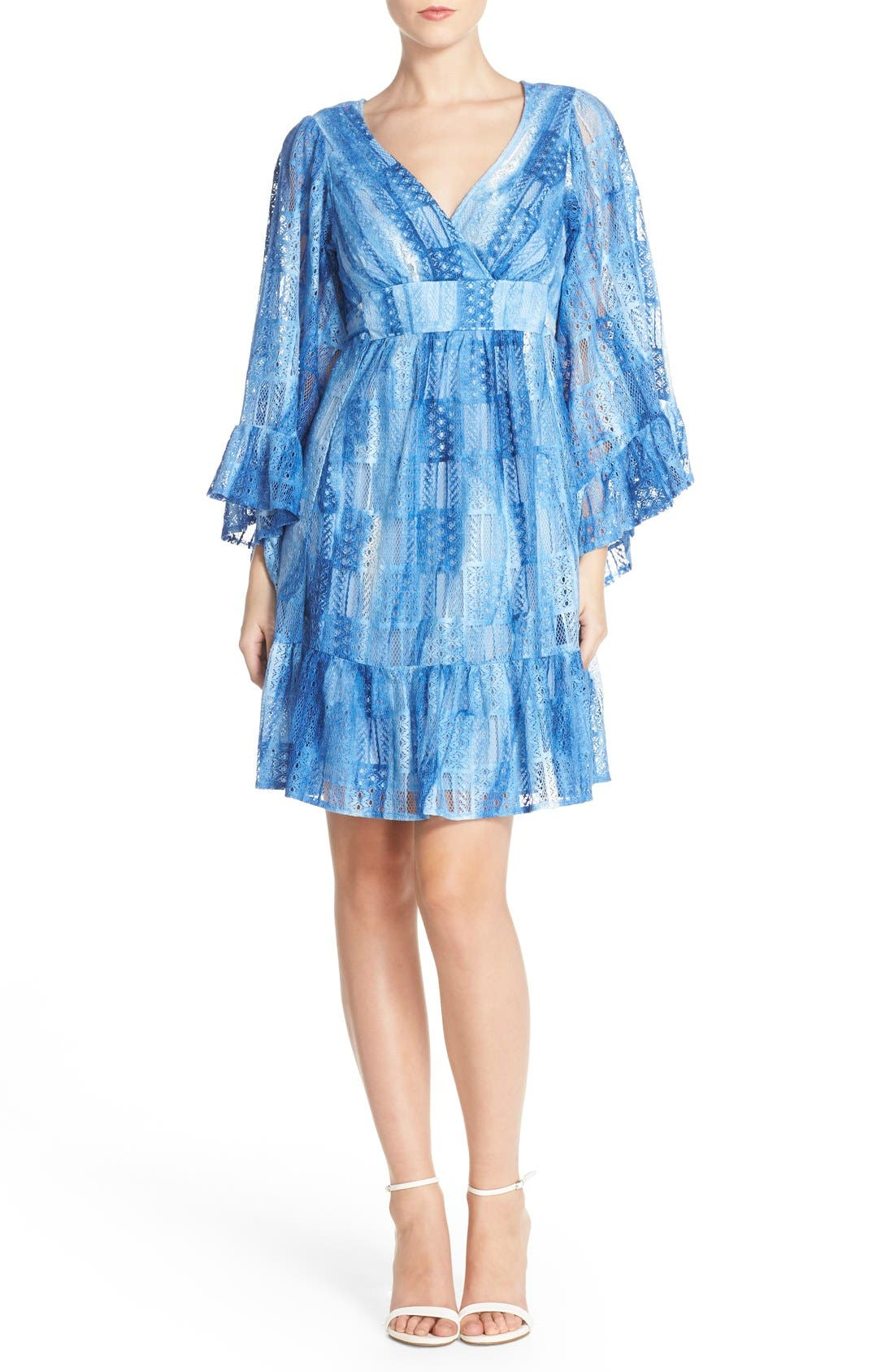 Alternate Image 4  - Betsey Johnson Cotton Blend Babydoll Dress