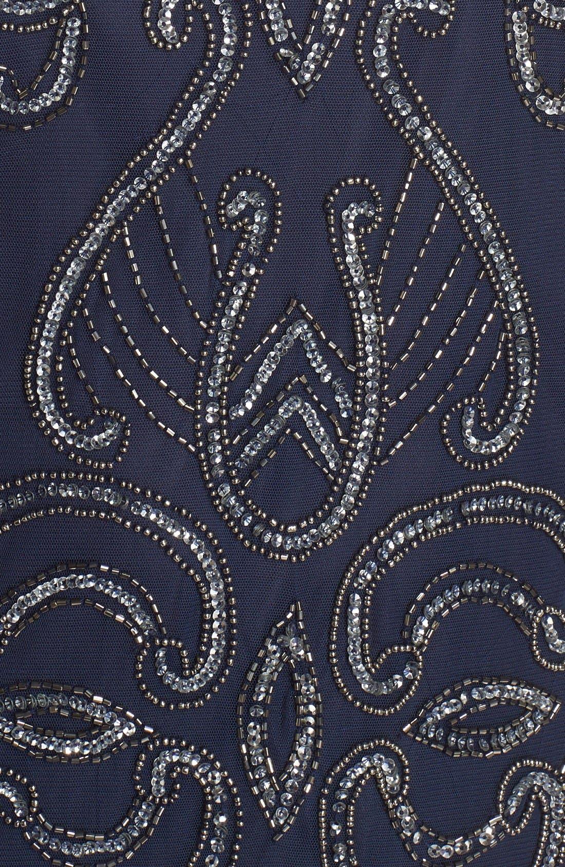 Alternate Image 5  - Pisarro Nights Illusion Neck Beaded A-Line Gown (Plus Size)