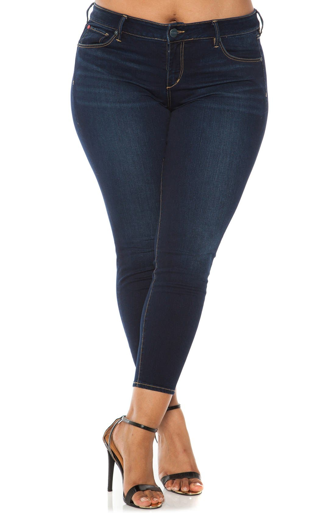 Main Image - SLINK Jeans Stretch Ankle Skinny Jeans (Plus Size)