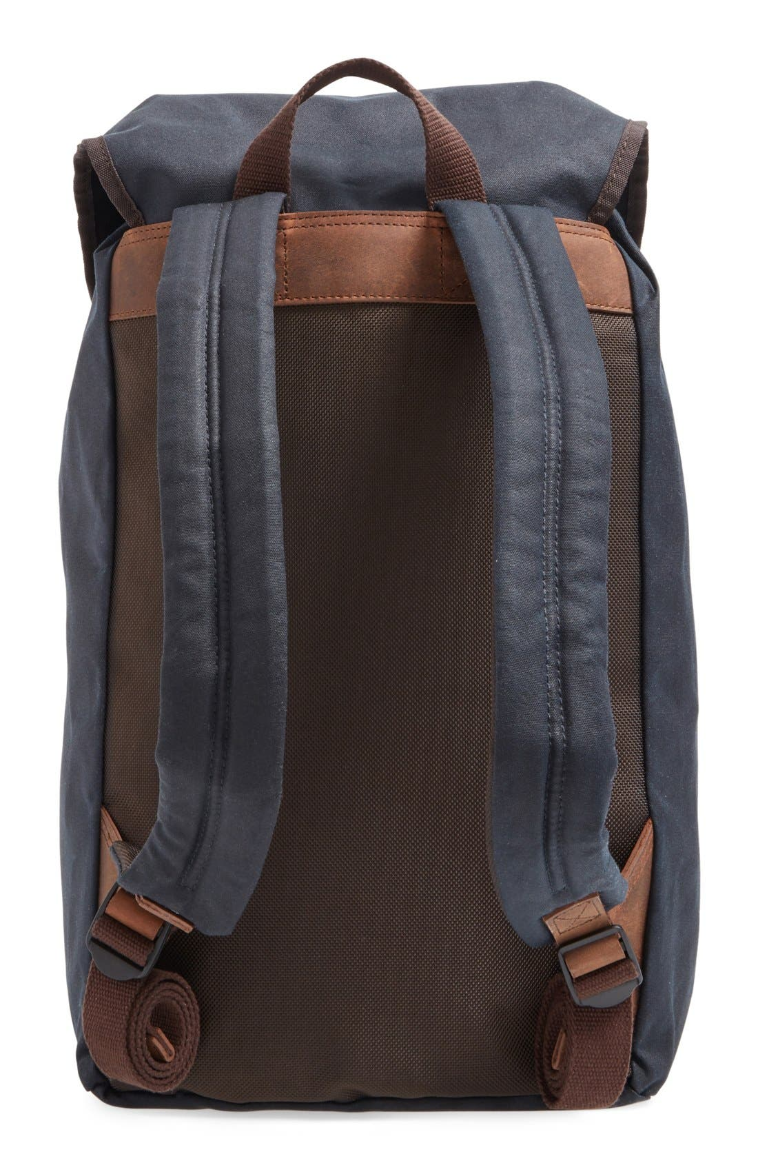 Alternate Image 3  - Barbour Waxed Canvas Backpack