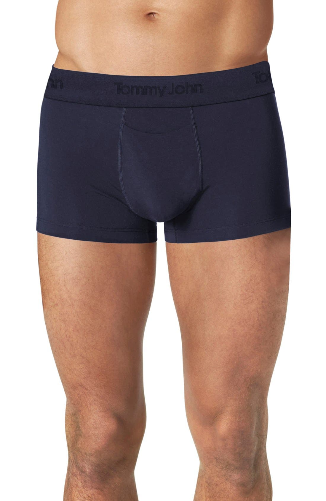 Second Skin Square Cut Trunks,                         Main,                         color, Dress Blues