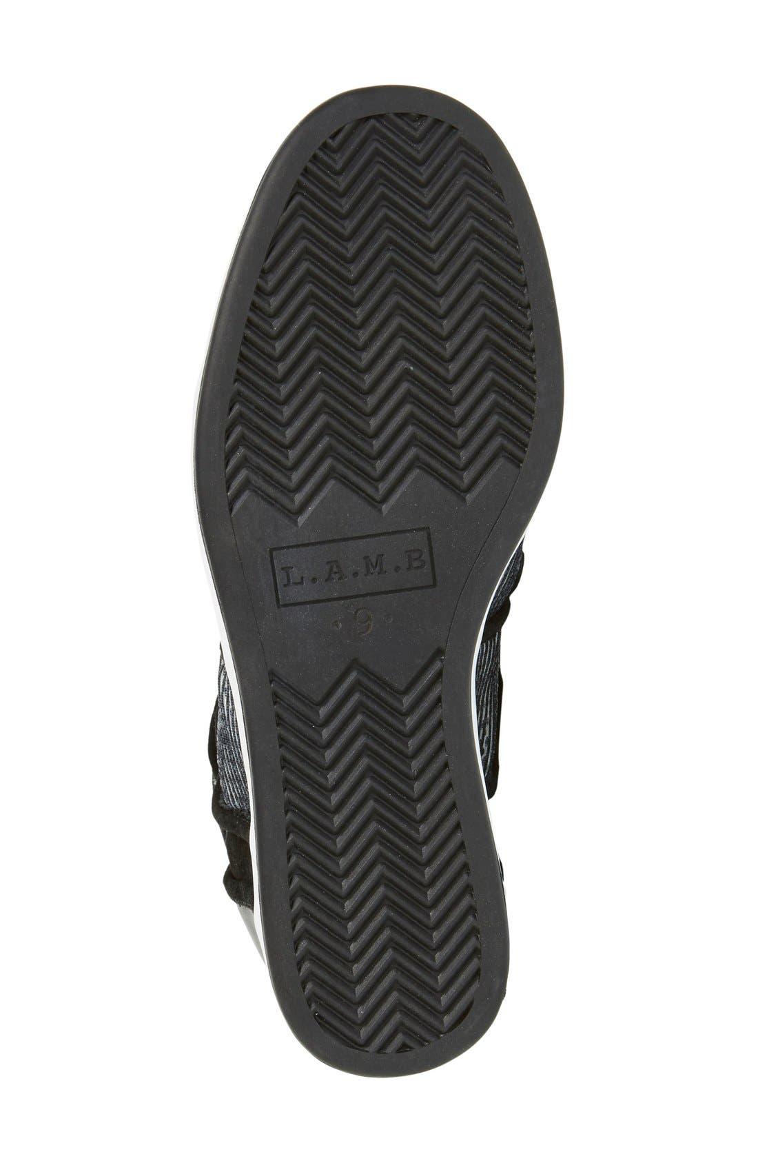 Alternate Image 4  - L.A.M.B. 'Gera' Hidden Wedge Sneaker (Women)