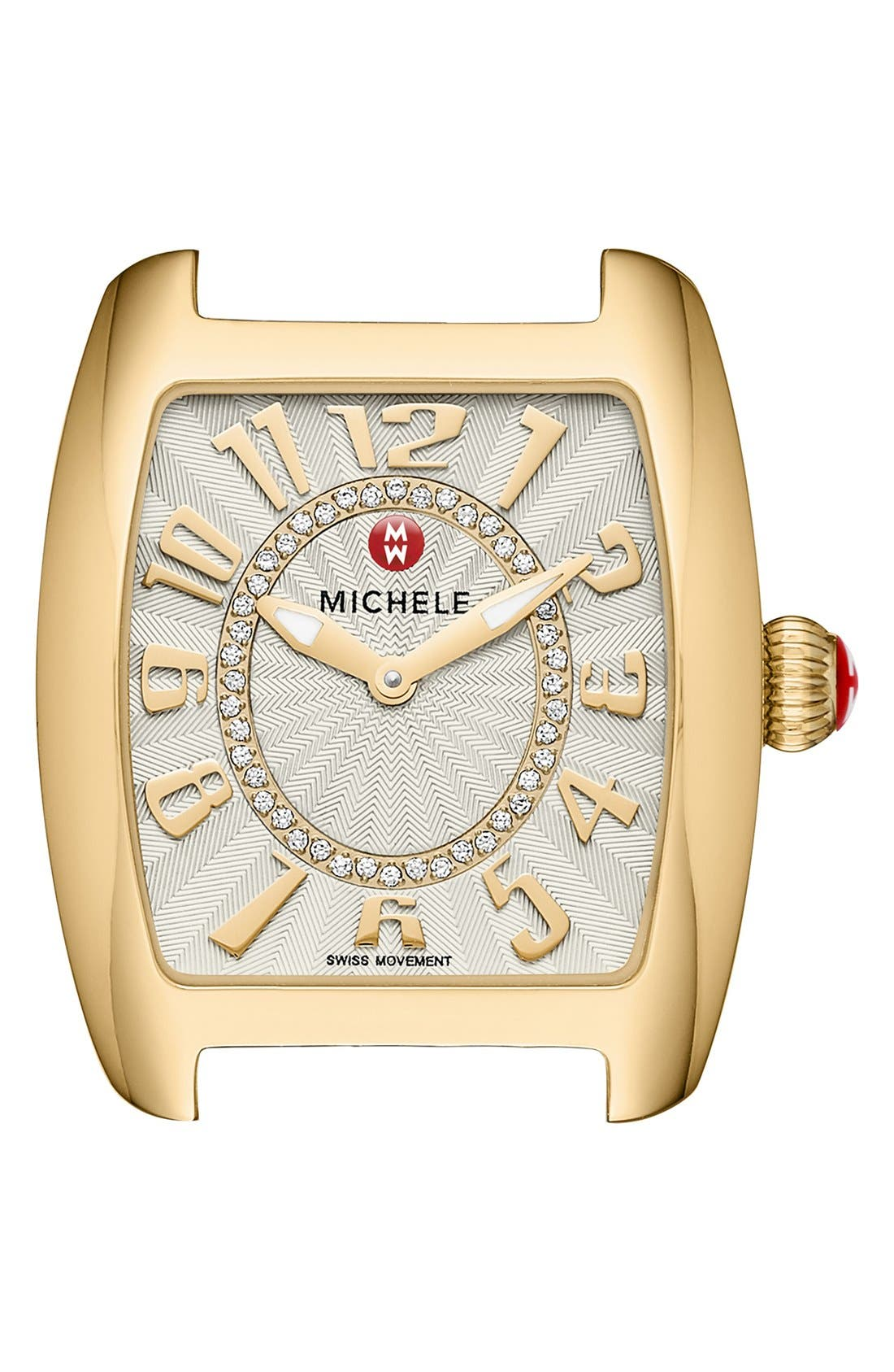 Alternate Image 1 Selected - MICHELE Urban Mini Diamond Dial Watch Head, 29mm x 31mm