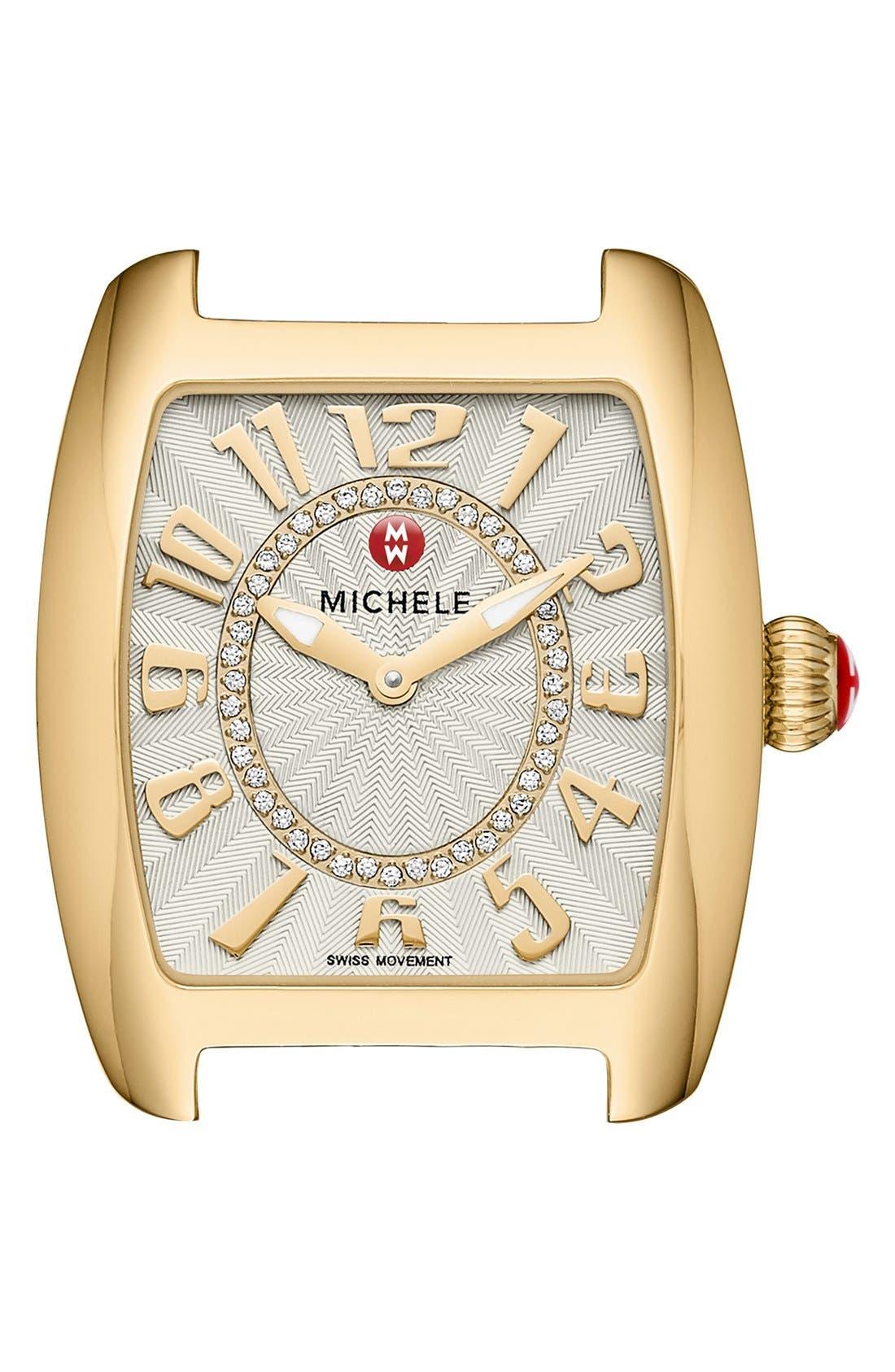 Urban Mini Diamond Dial Watch Head, 29mm x 31mm,                         Main,                         color, Gold