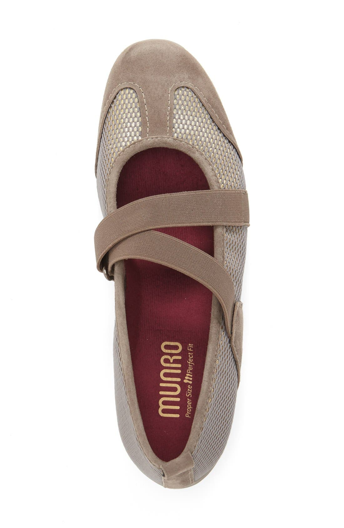 Alternate Image 3  - Munro 'Zip' Mary Jane Flat (Women)