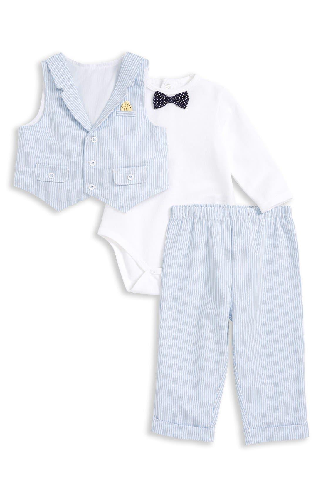 Little Me Dapper Vest Bodysuit Pants Set Baby Boys Nordstrom