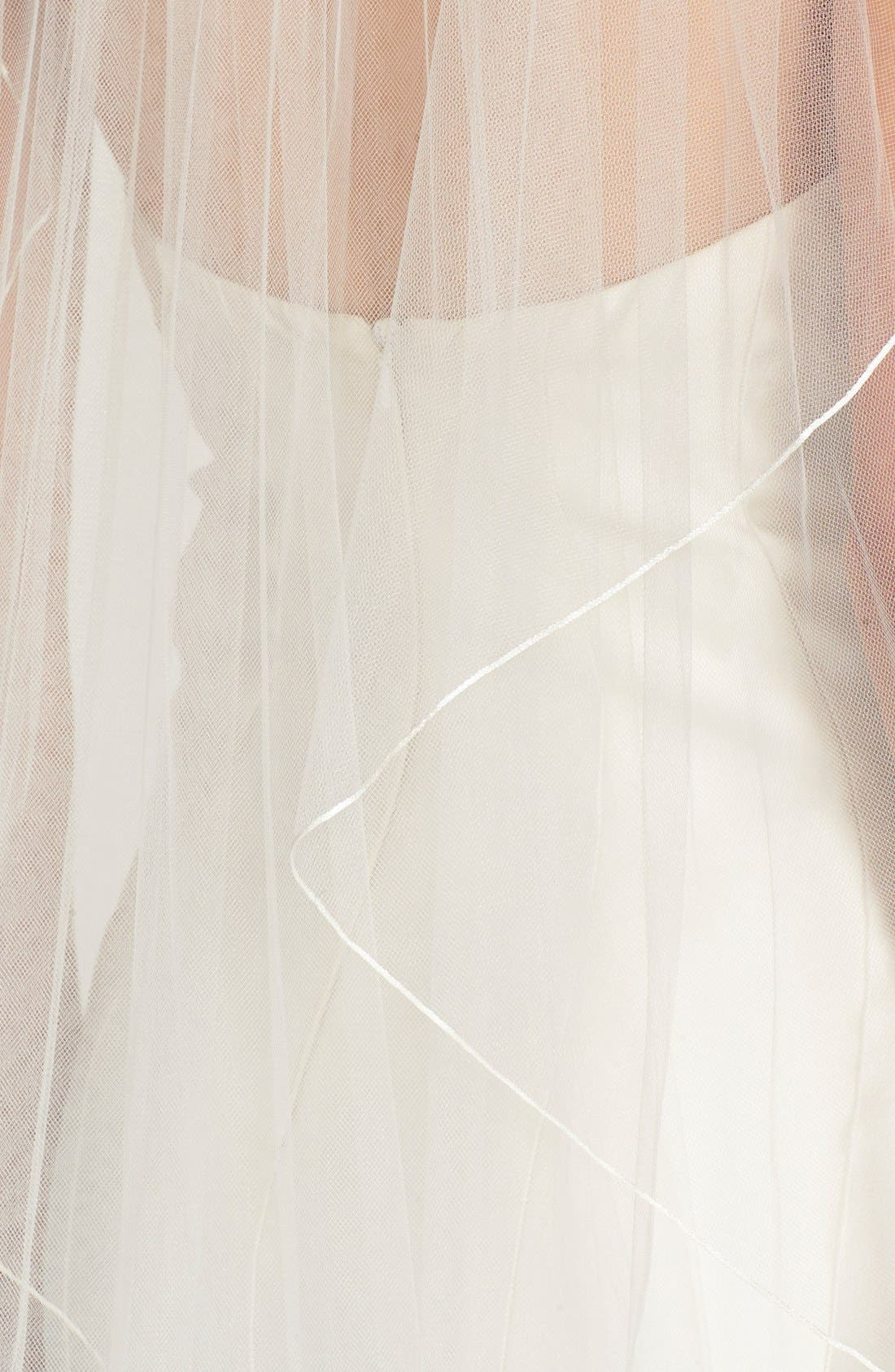 'Avalon' Cascading Waltz Length Veil,                             Alternate thumbnail 2, color,                             Light Ivory