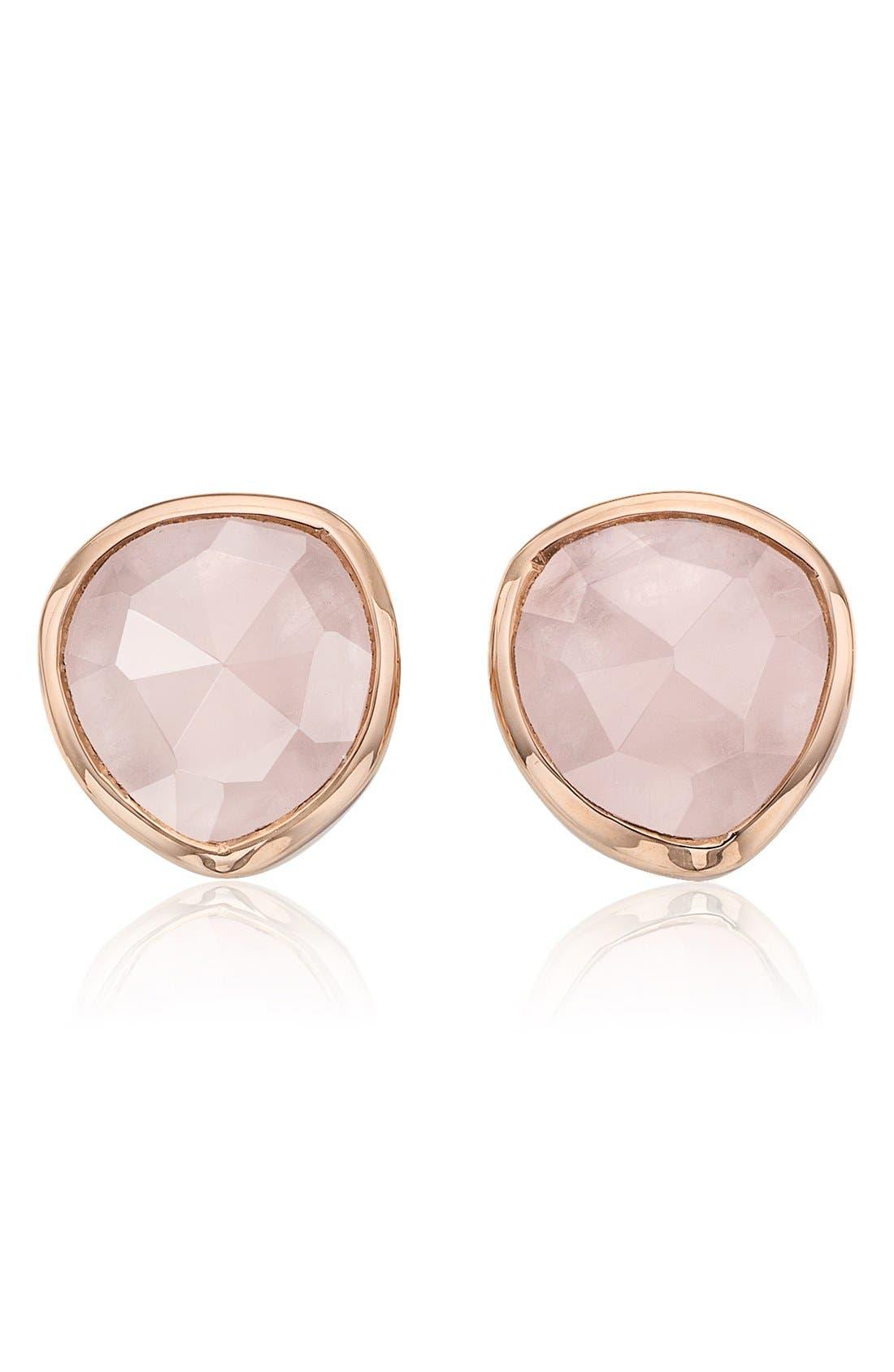 Monica Vinader 'Siren' Semiprecious Stone Stud Earrings (Nordstrom Exclusive)