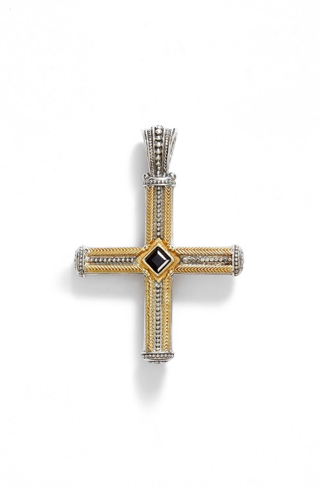 Alternate Image 1 Selected - Konstantino 'Orpheus' Semiprecious Stone Cross Pendant