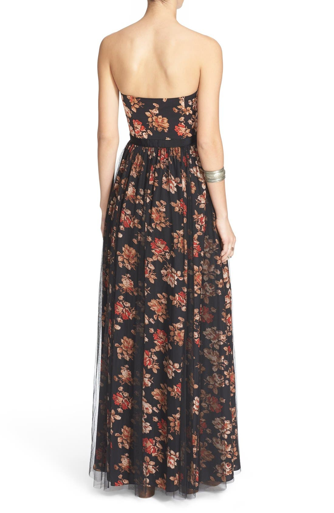 Alternate Image 2  - Free People Floral Print Plunge Gown