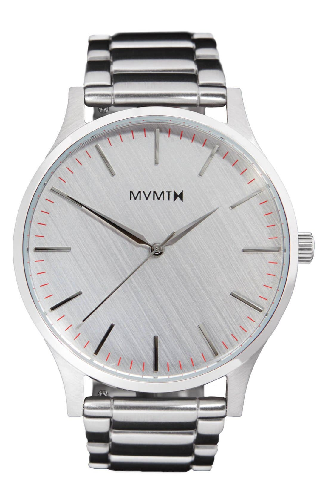 Bracelet Watch, 40mm,                         Main,                         color, Silver/ Silver