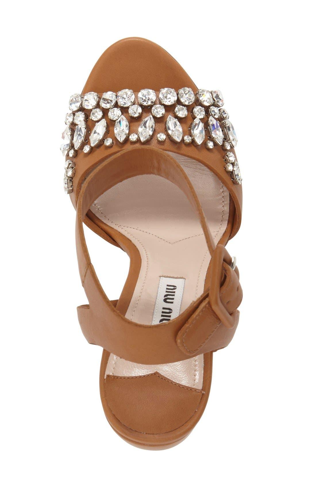 Alternate Image 3  - Miu Miu 'Jewel' Sandal (Women)