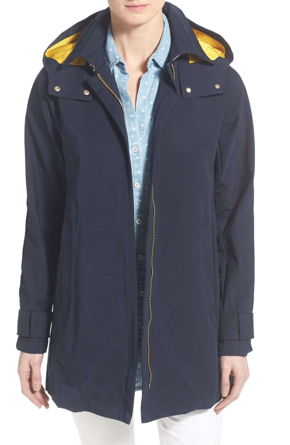 Main Image - Vince Camuto Hooded Fly Front Stadium Jacket