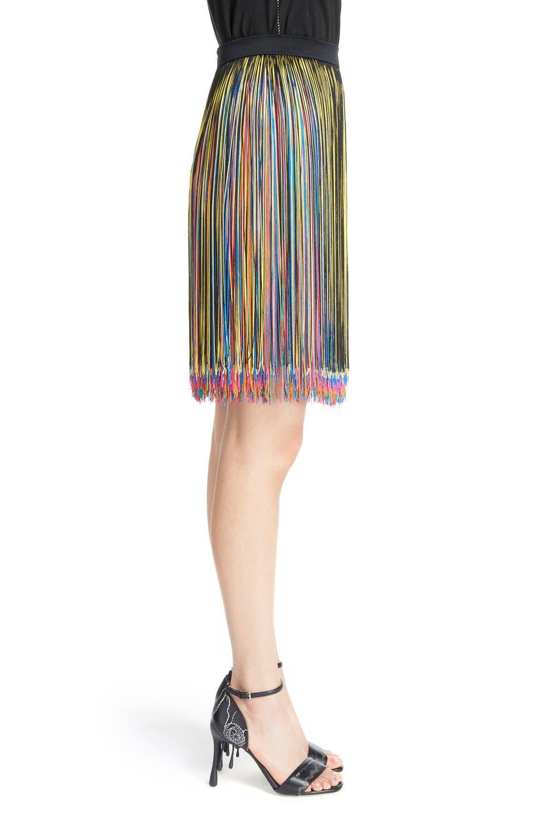 Alternate Image 4  - Christopher Kane Rainbow Fringe Skirt