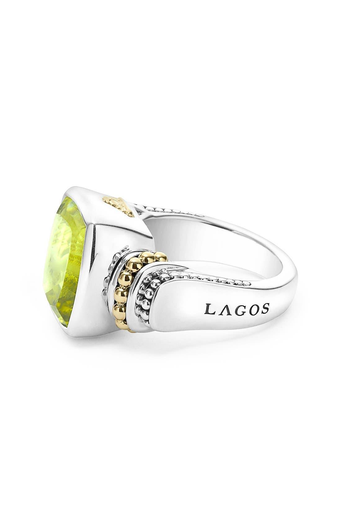 Alternate Image 4  - LAGOS 'Caviar Color' Medium Semiprecious Stone Ring