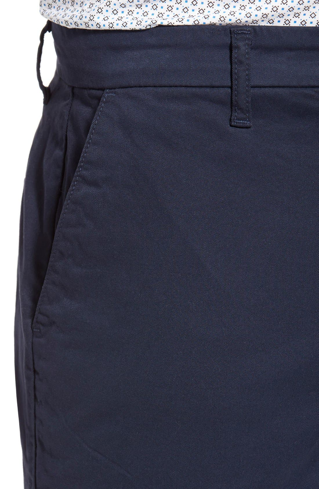 'Thompson' Slim Fit Shorts,                             Alternate thumbnail 4, color,                             Navy Cadet
